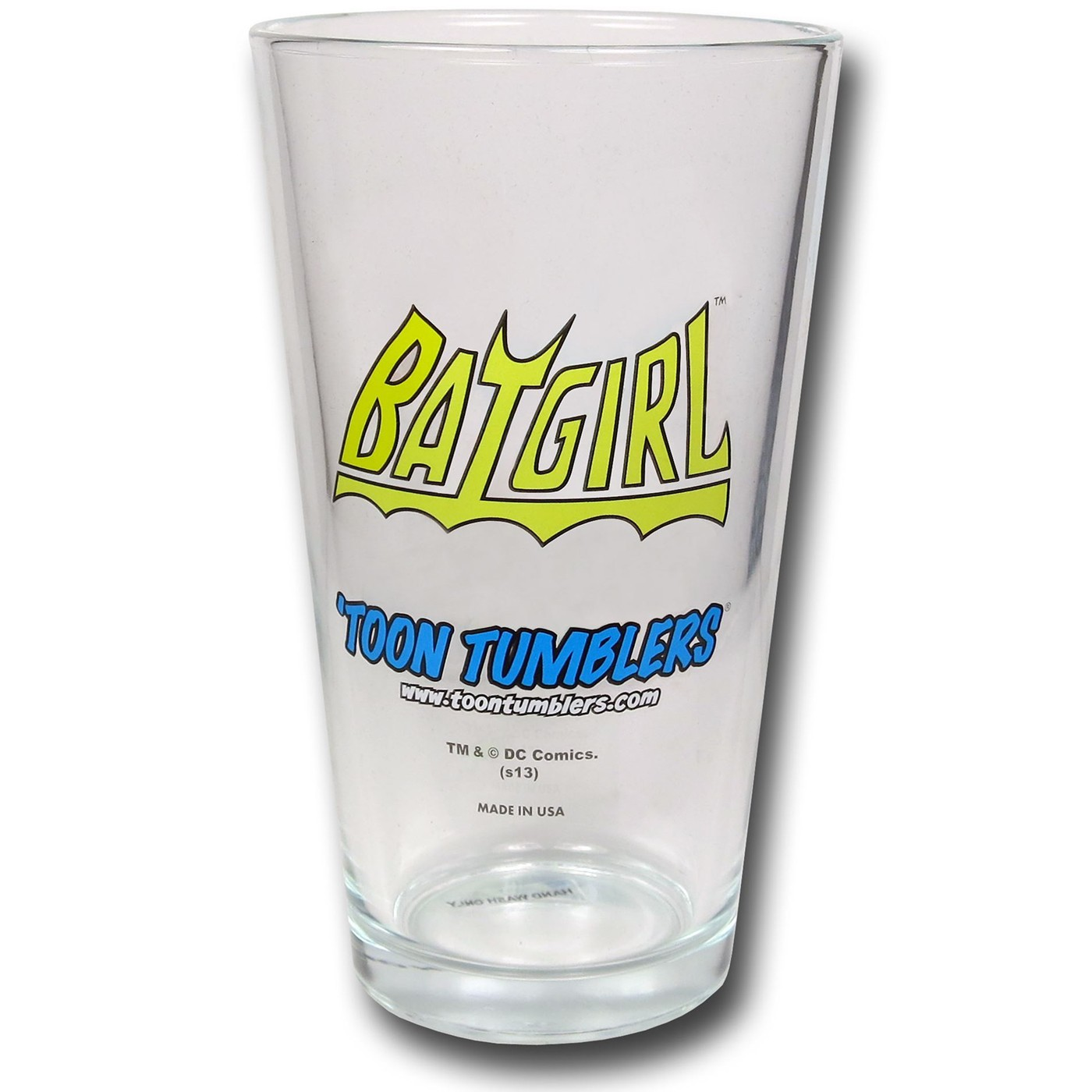 Batgirl Retro Image Pint Glass
