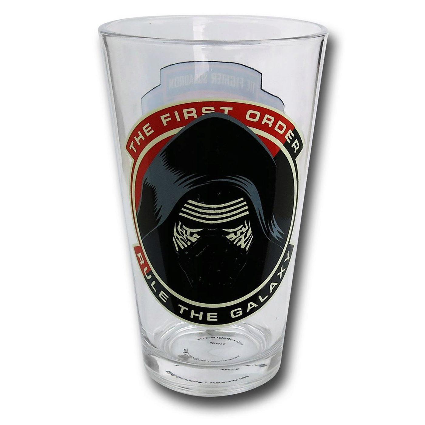 Star Wars Force Awakens Kylo Ren 16 oz Pint Glass