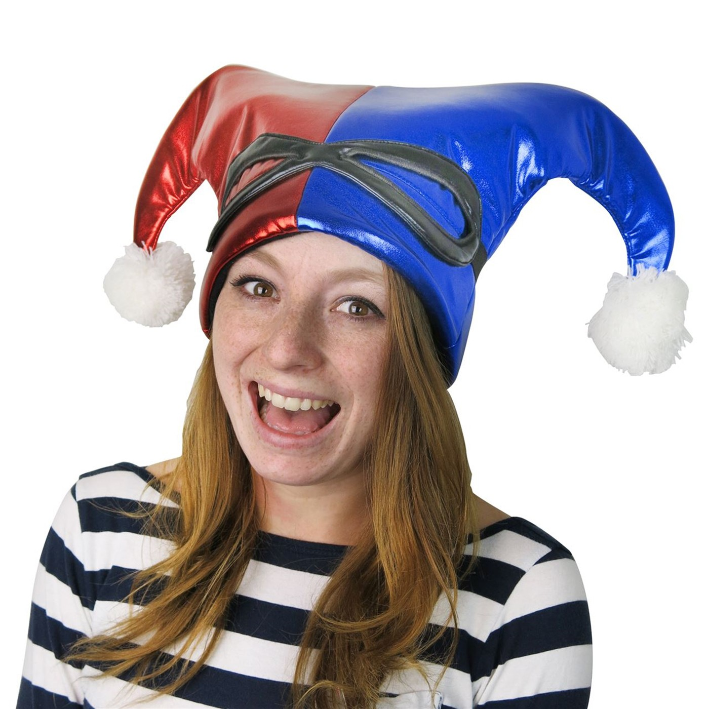 Harley Quinn Red and Blue Jester Hat