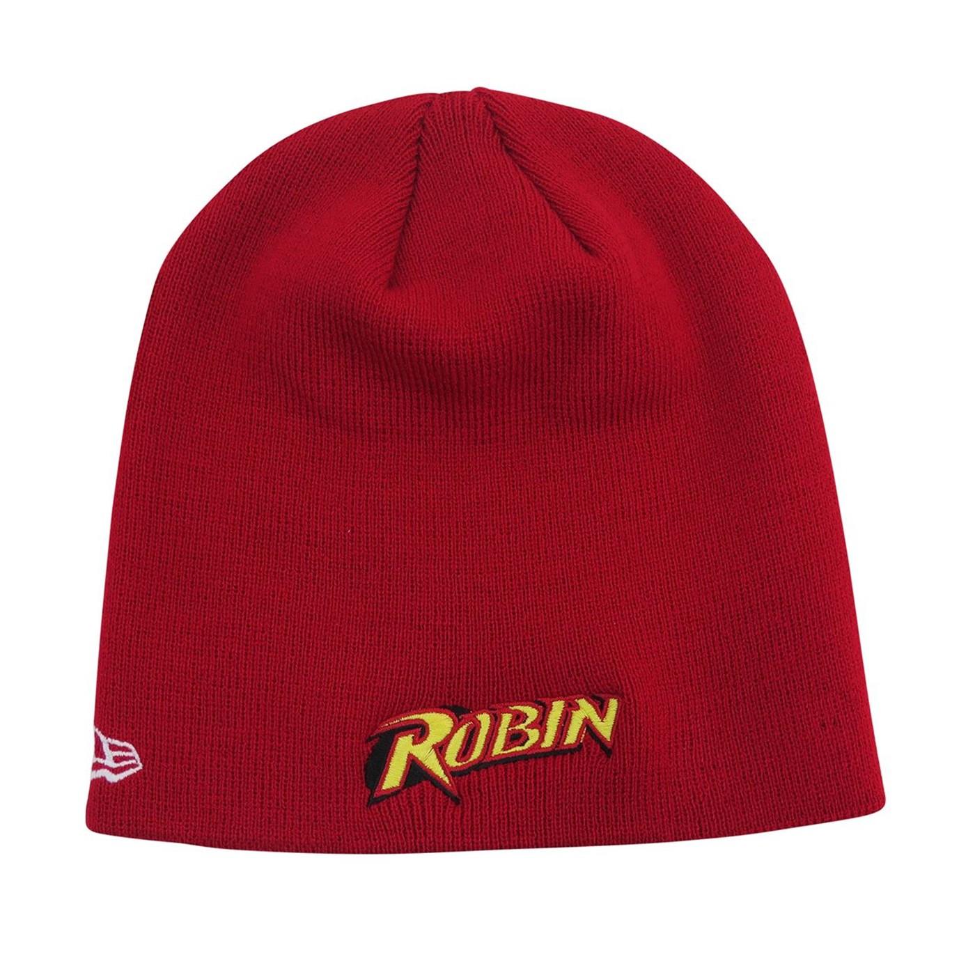 Robin Symbol Red New Era Beanie