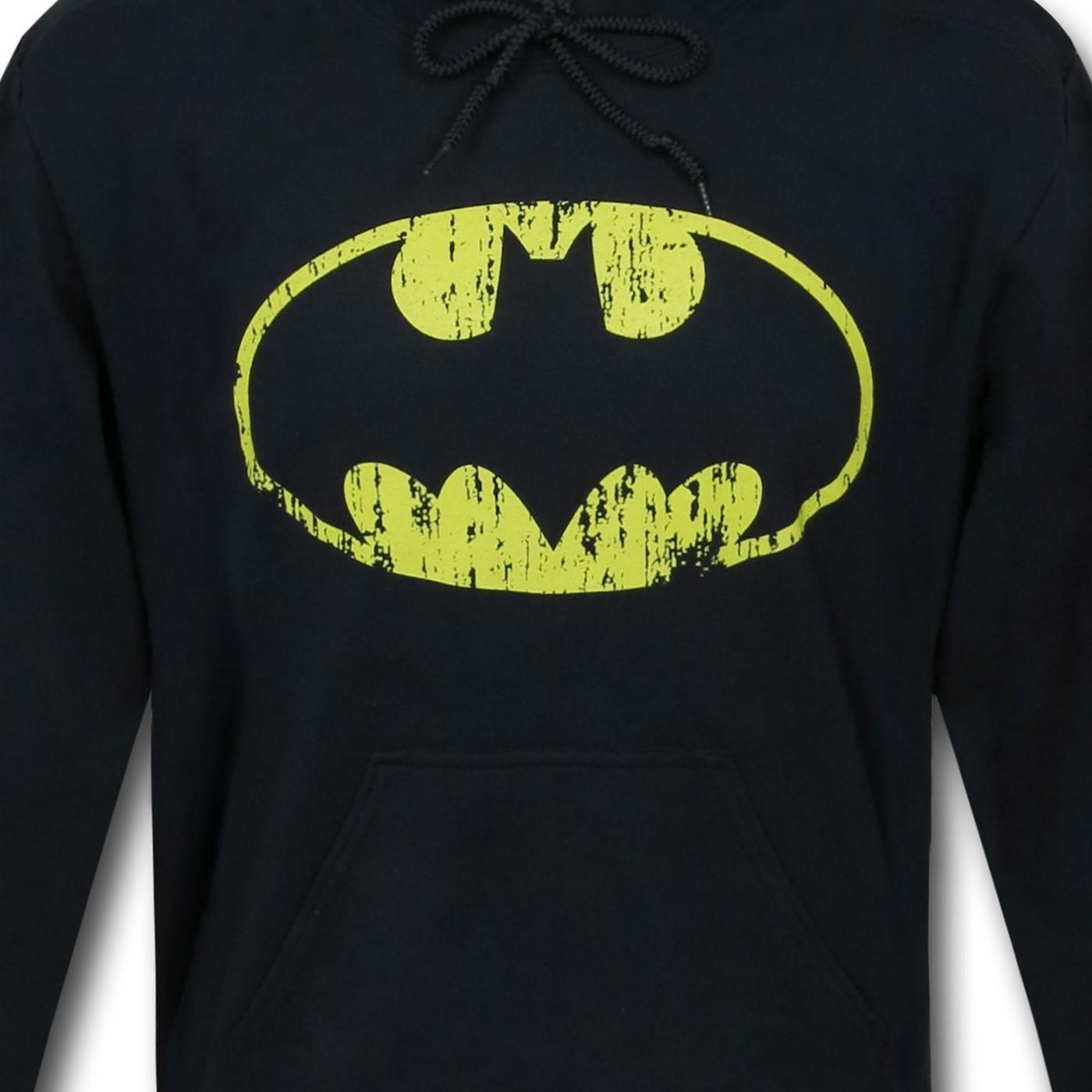 Batman Distressed Symbol Pullover Hoodie