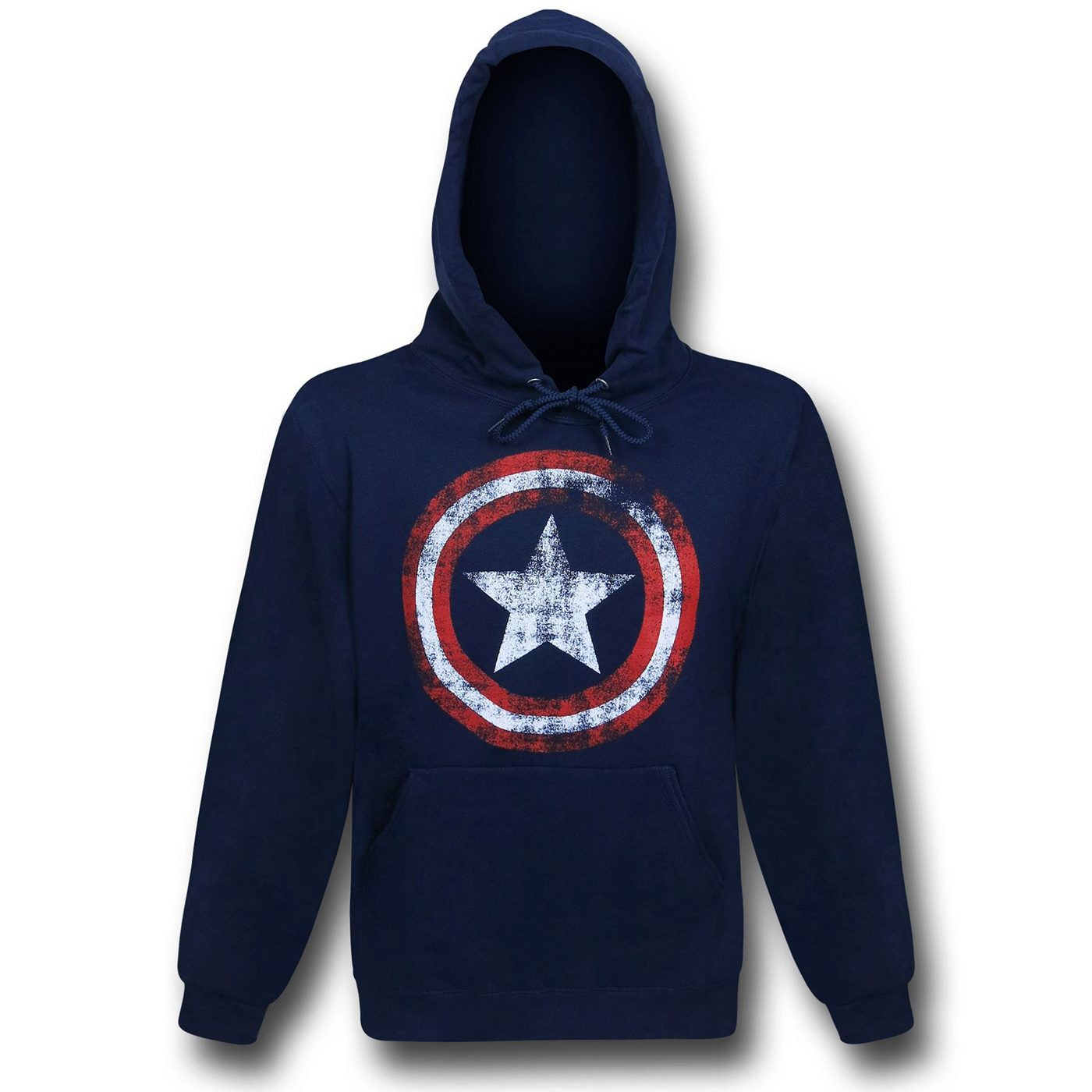 Captain America Distressed Navy Pullover Hoodie