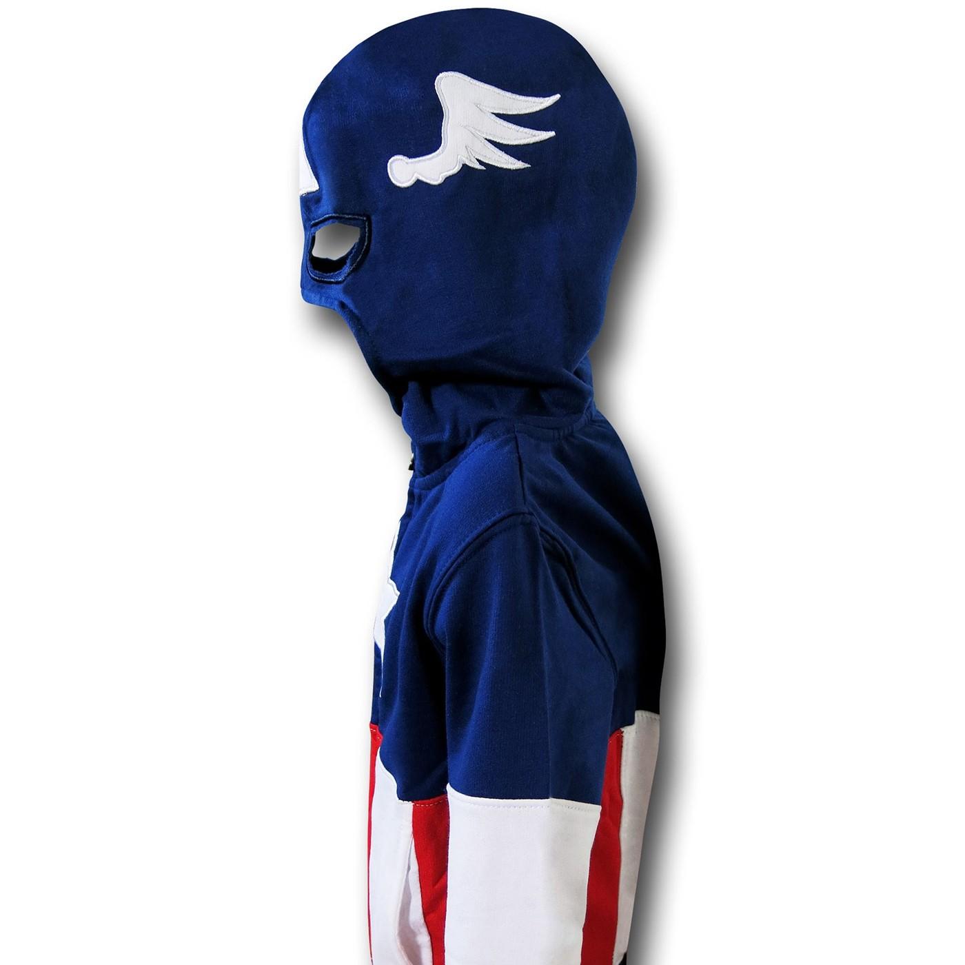 Captain America Kids Masked Costume Hoodie