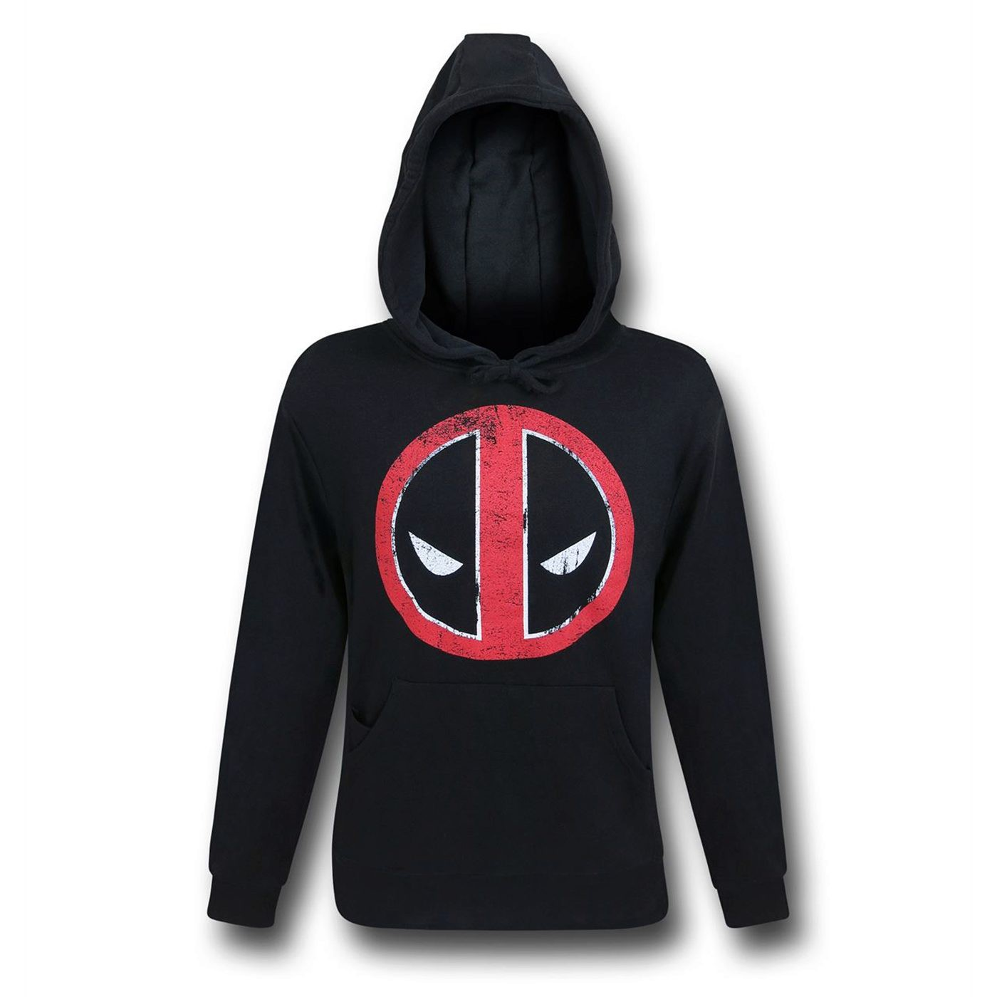 Deadpool Distressed Symbol Pullover Hoodie