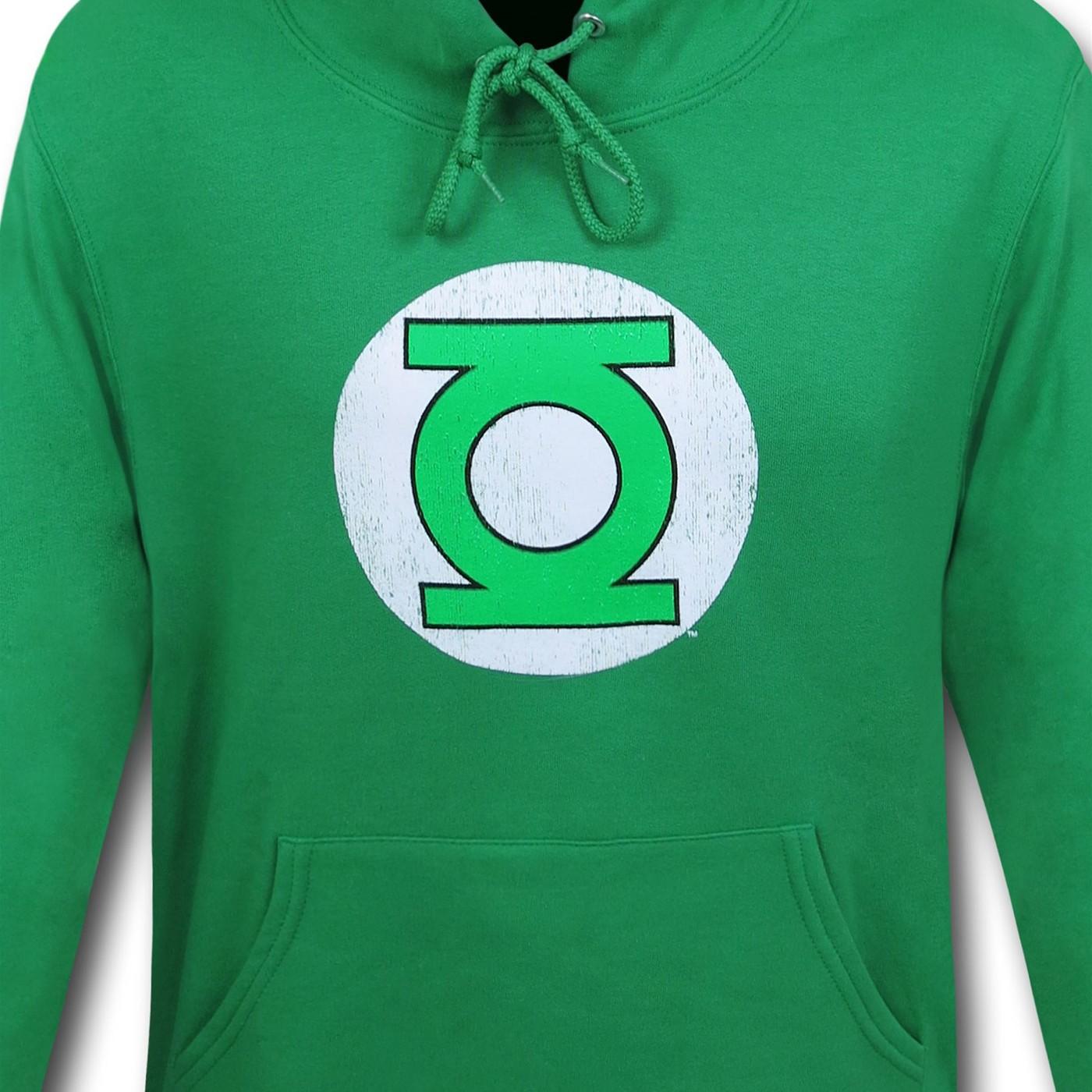 Green Lantern Distressed Symbol Hoodie