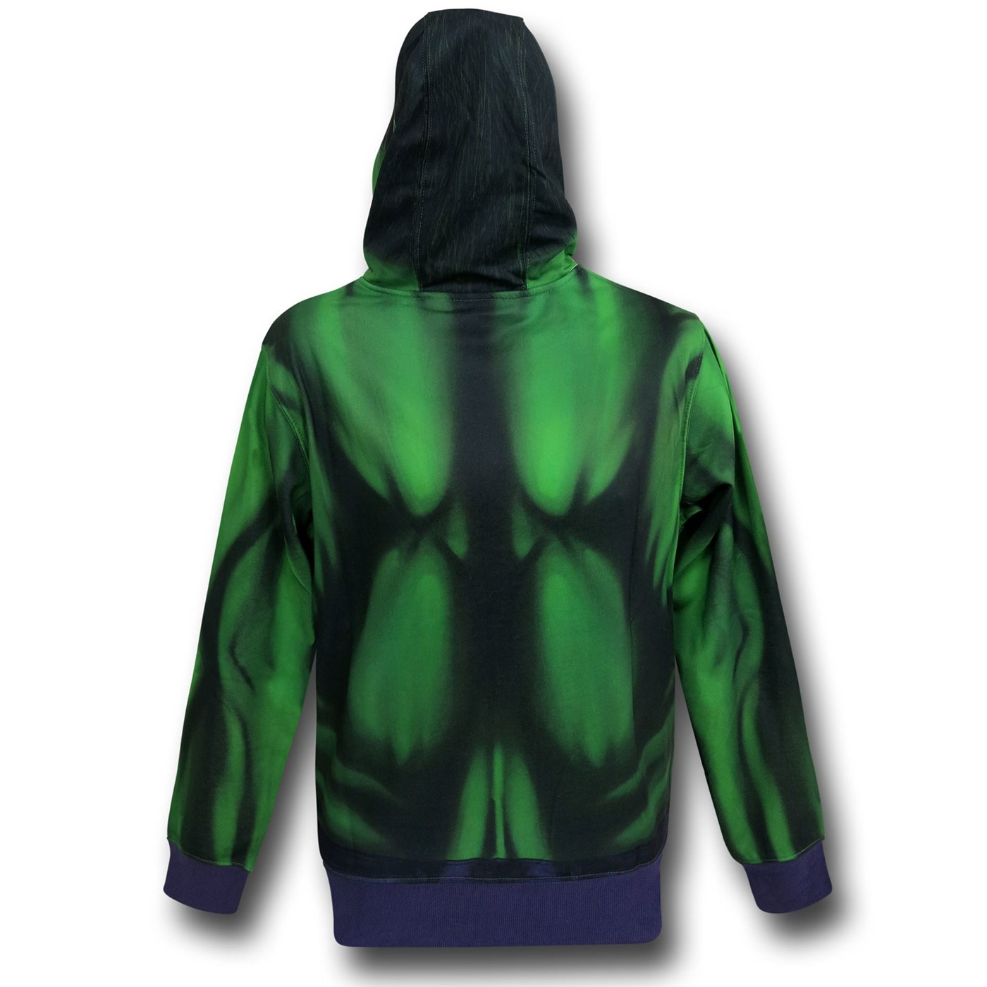 Hulk Lightweight Sublimated Costume Zip-Up Hoodie