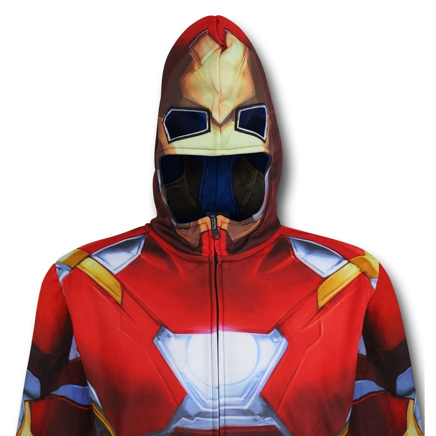 Iron Man/Cap Reversible Men's Costume Zip Hoodie
