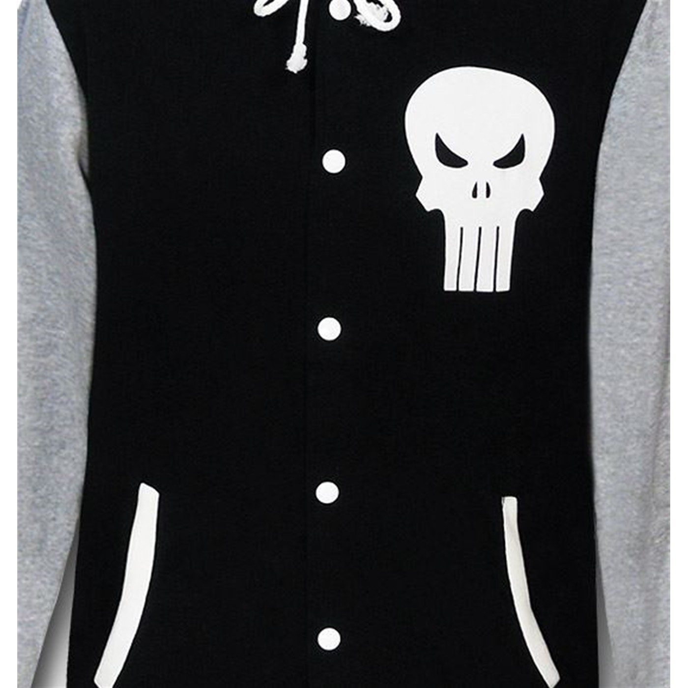 Punisher Varsity Button-Up Hoodie