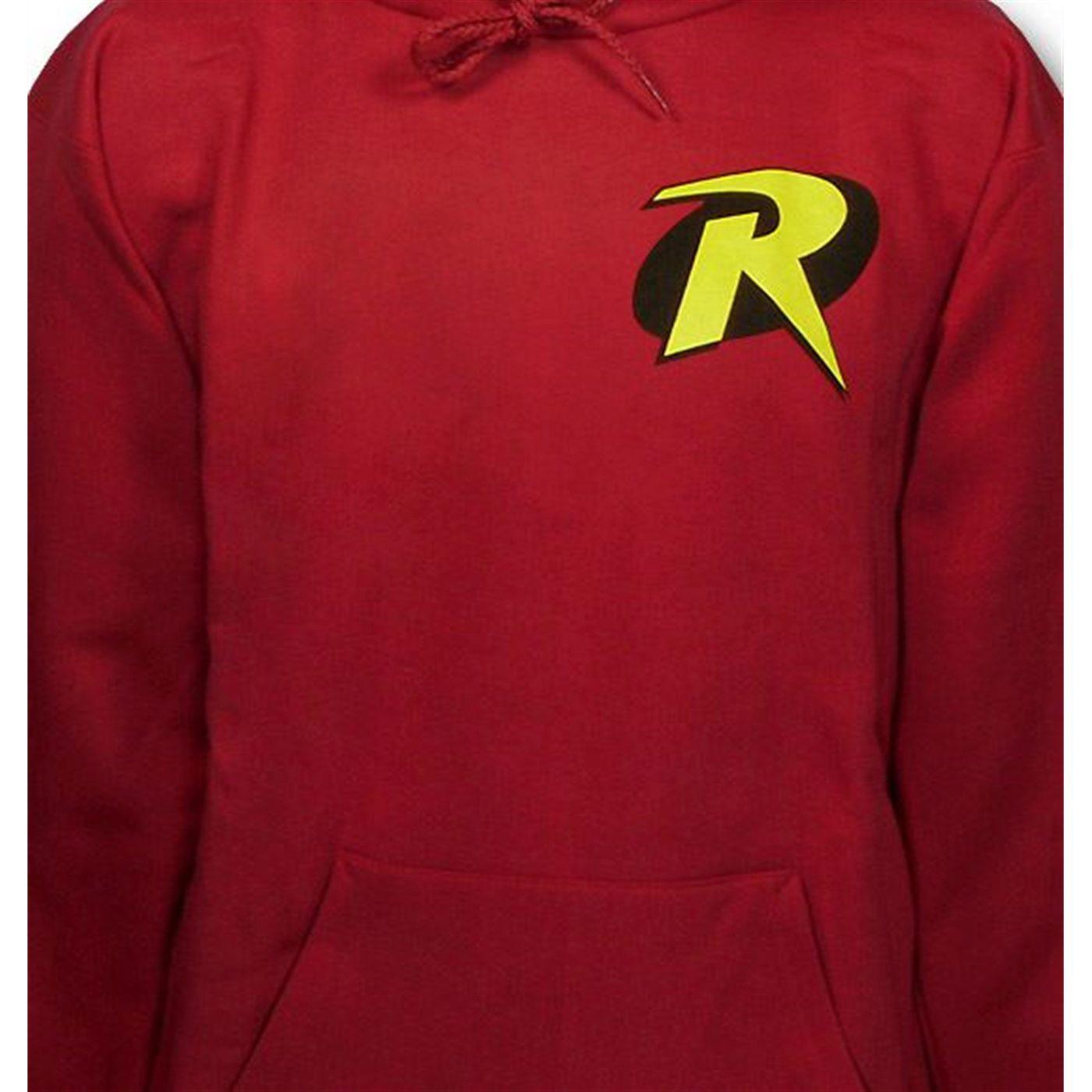 Robin Symbol Red Hoodie