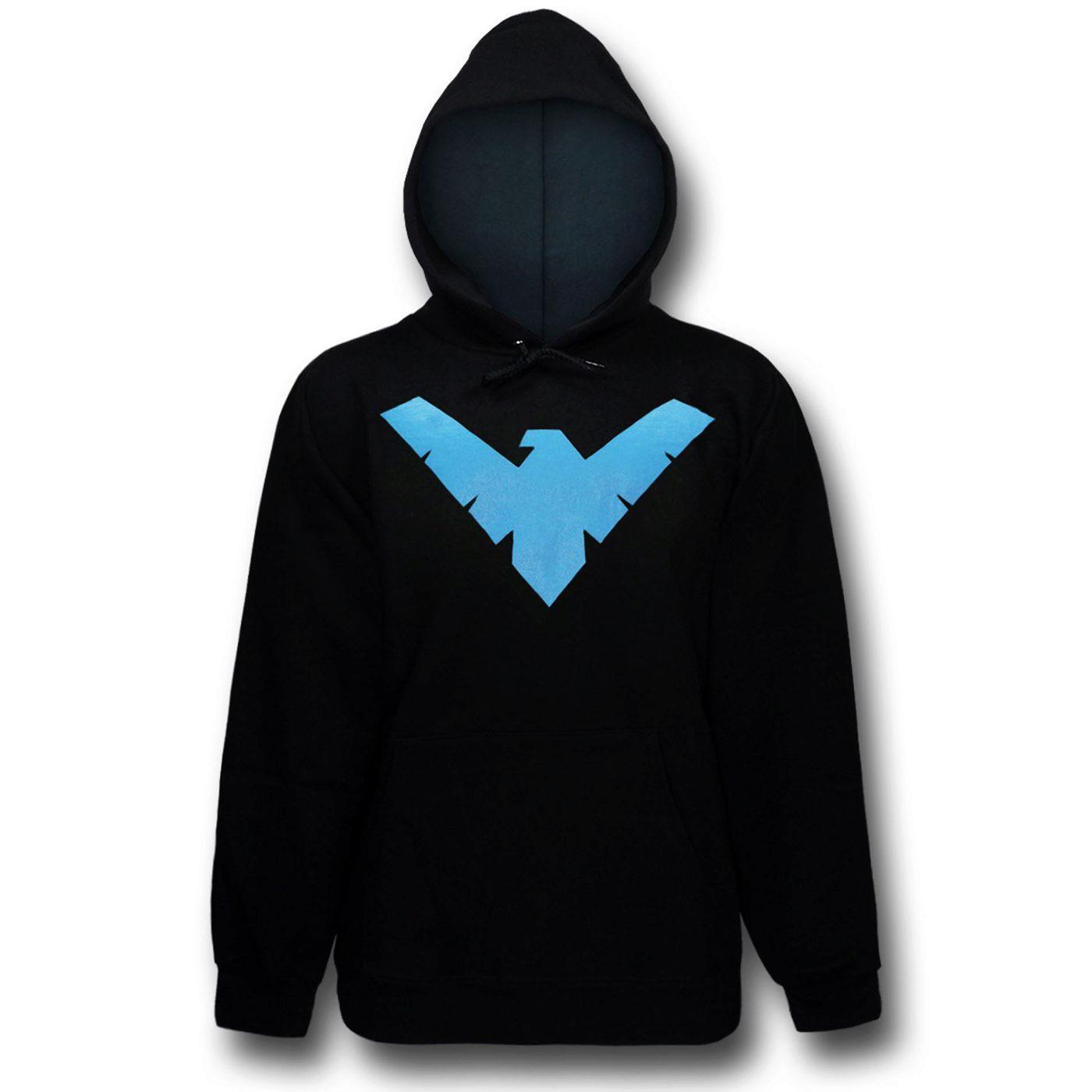 Nightwing Logo Men's Hoodie