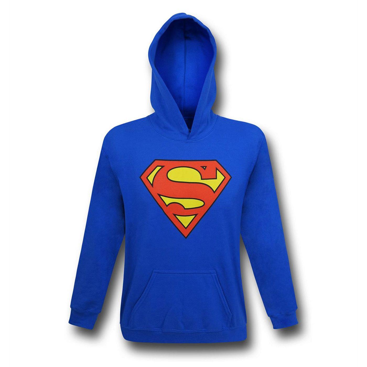 Superman Symbol Royal Blue Kids Hoodie
