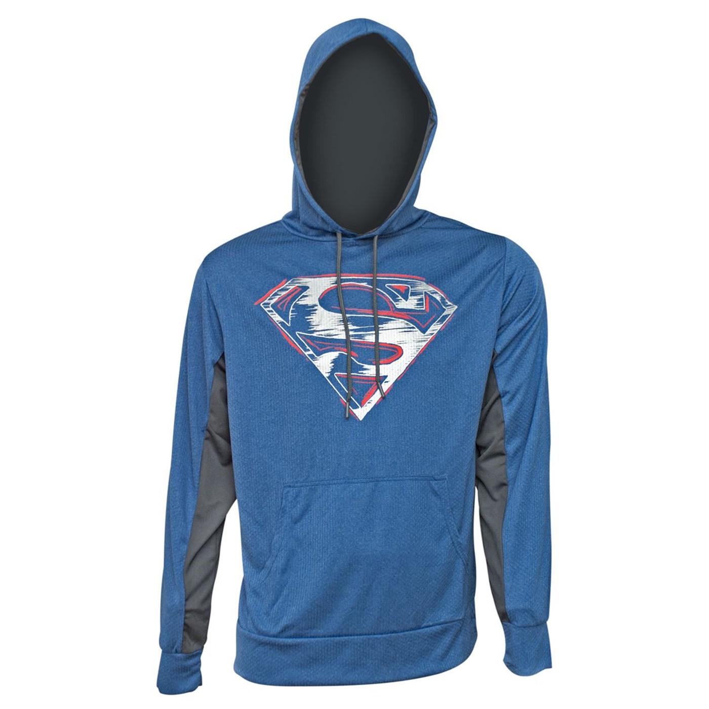 Superman Symbol High Def Ink Men's Hoodie