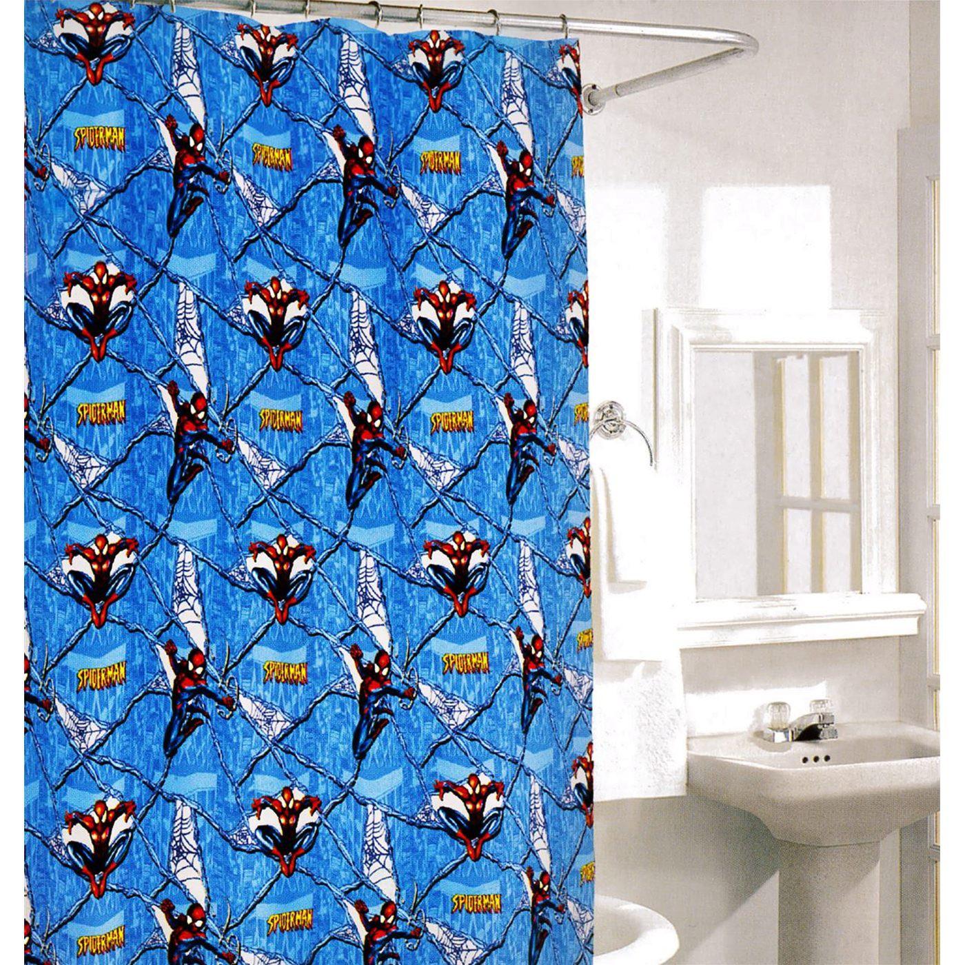 Spider-Man Vinyl Shower Curtain