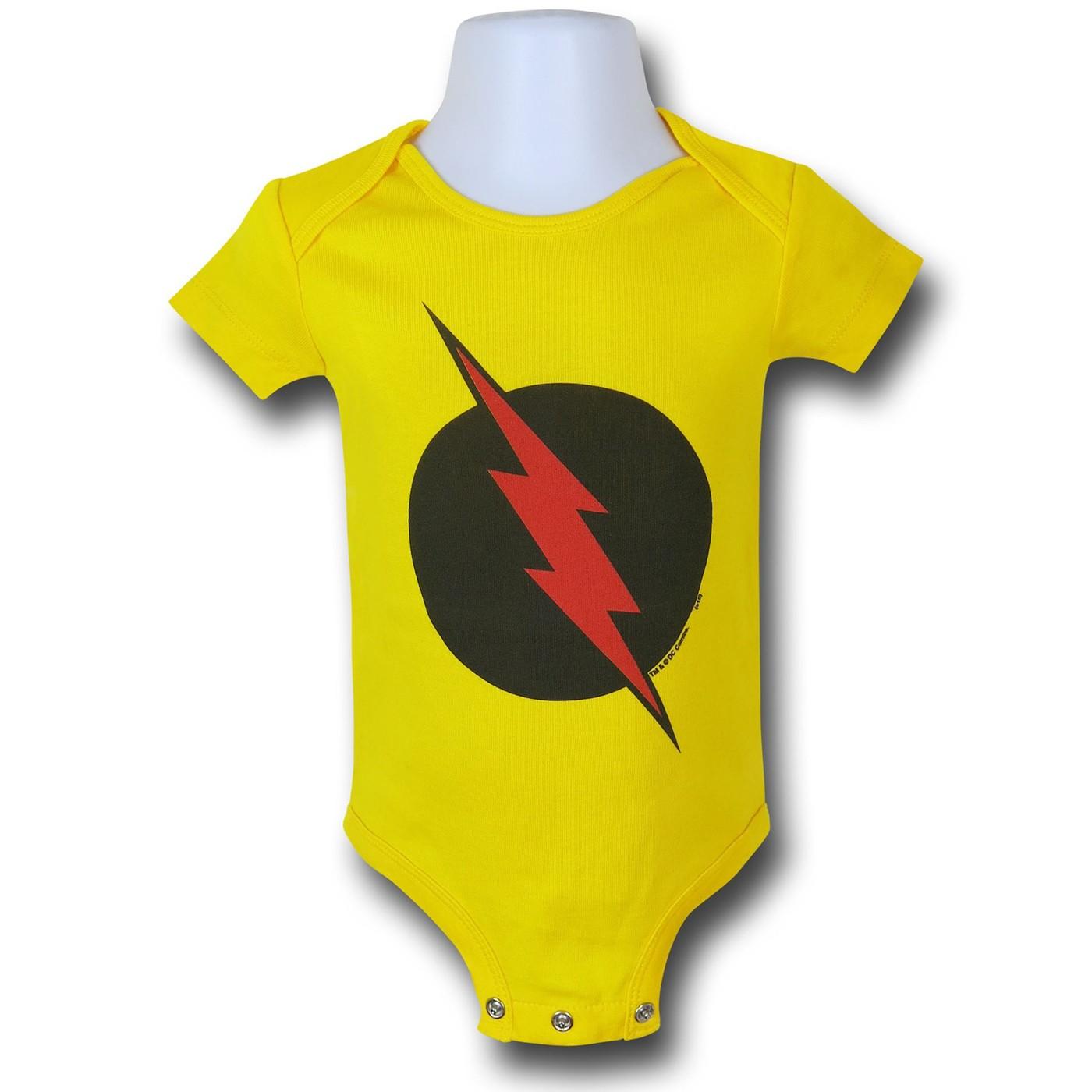 Robin Symbol Red Infant Snapsuit
