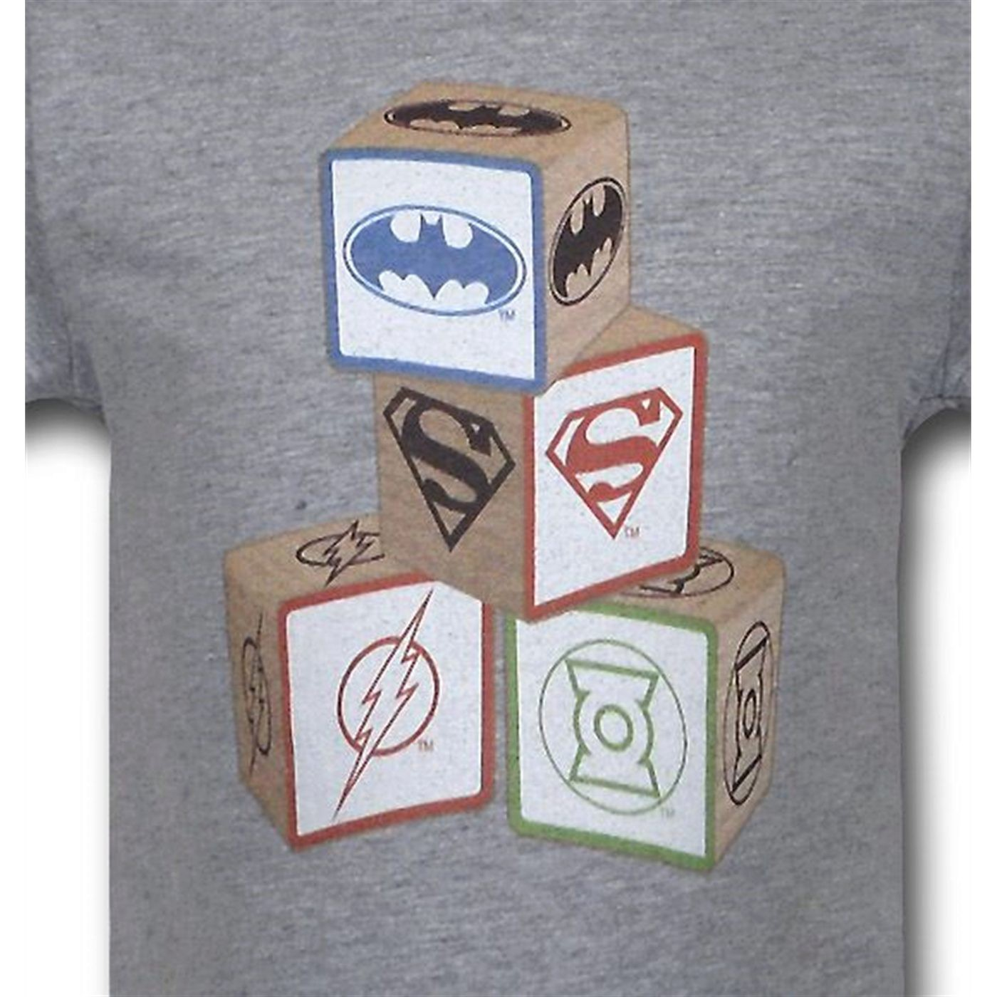 JLA Justice League Blocks Infant Snapsuit