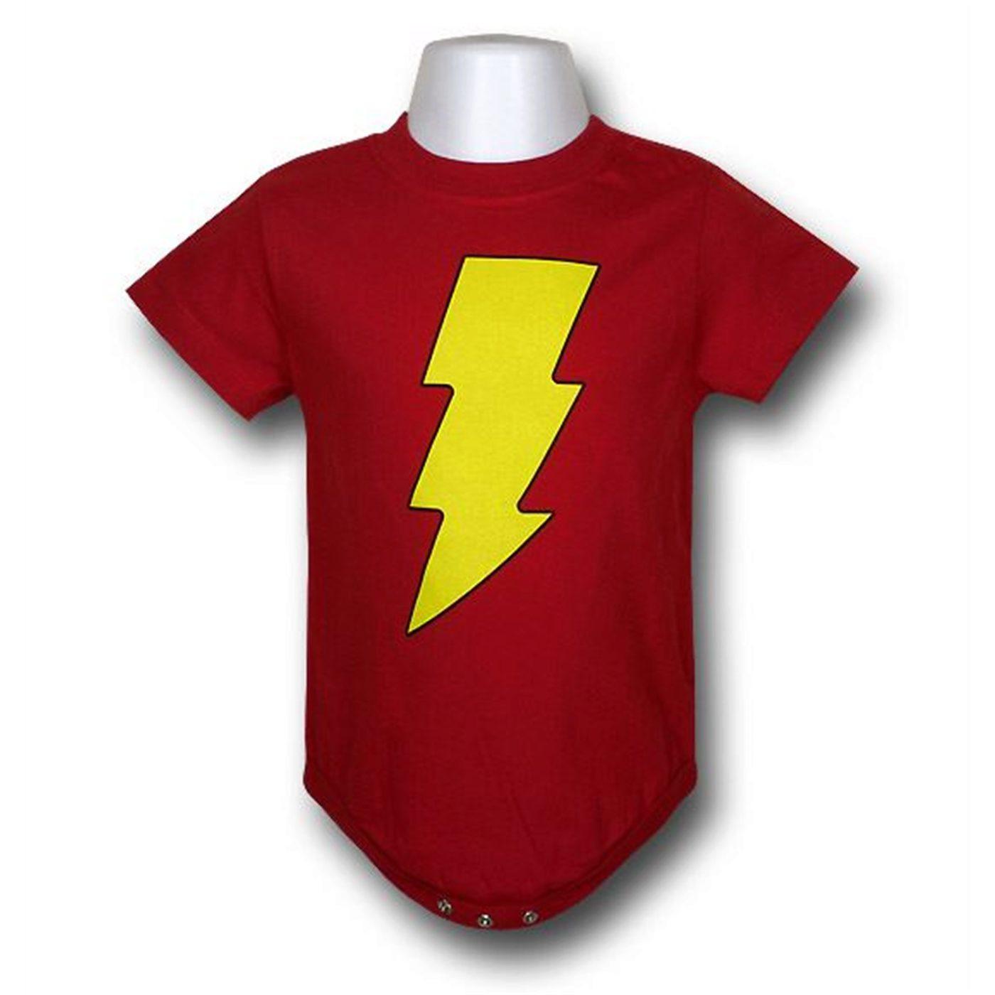 Shazam Symbol Infant Snapsuit