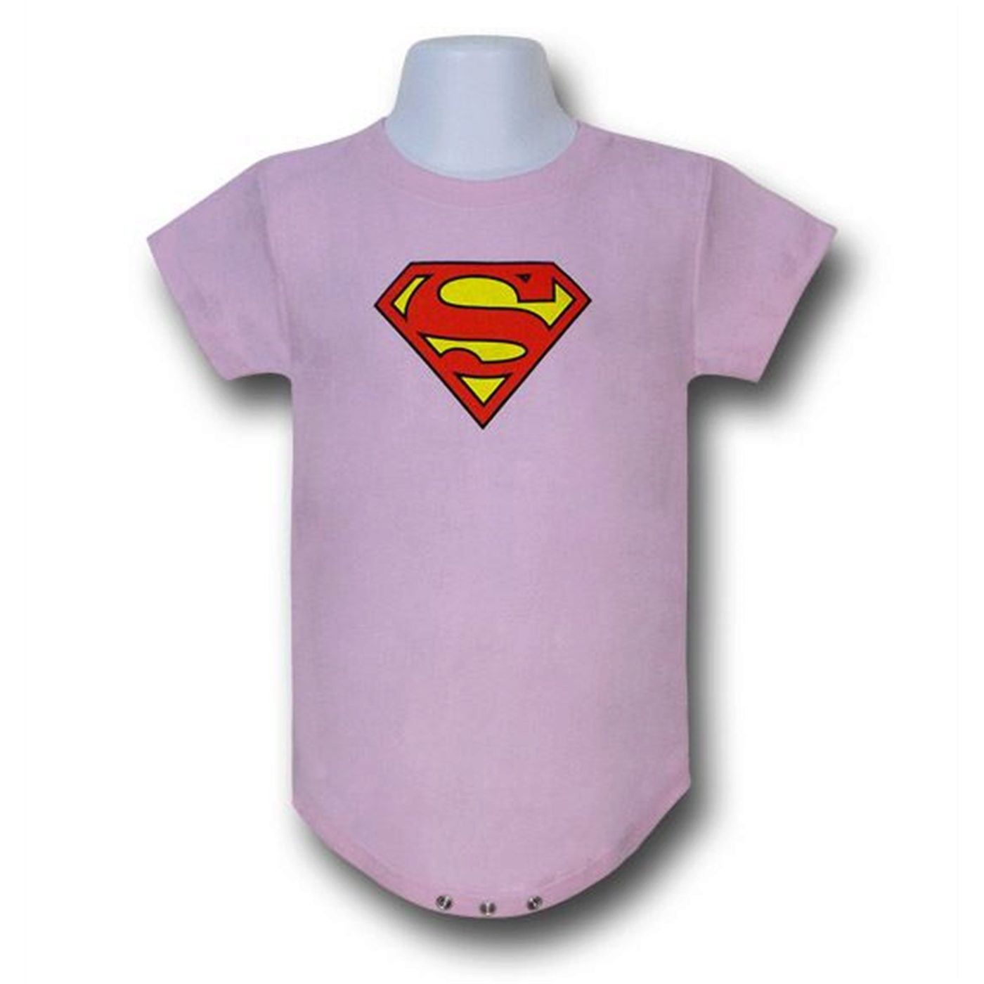 Superman Infant Pink Snapsuit