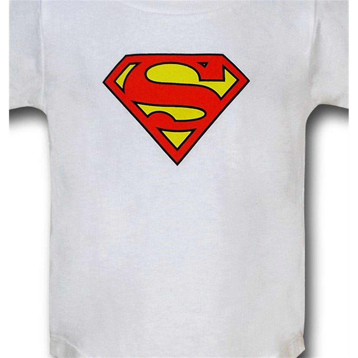 Superman Infant White Snapsuit