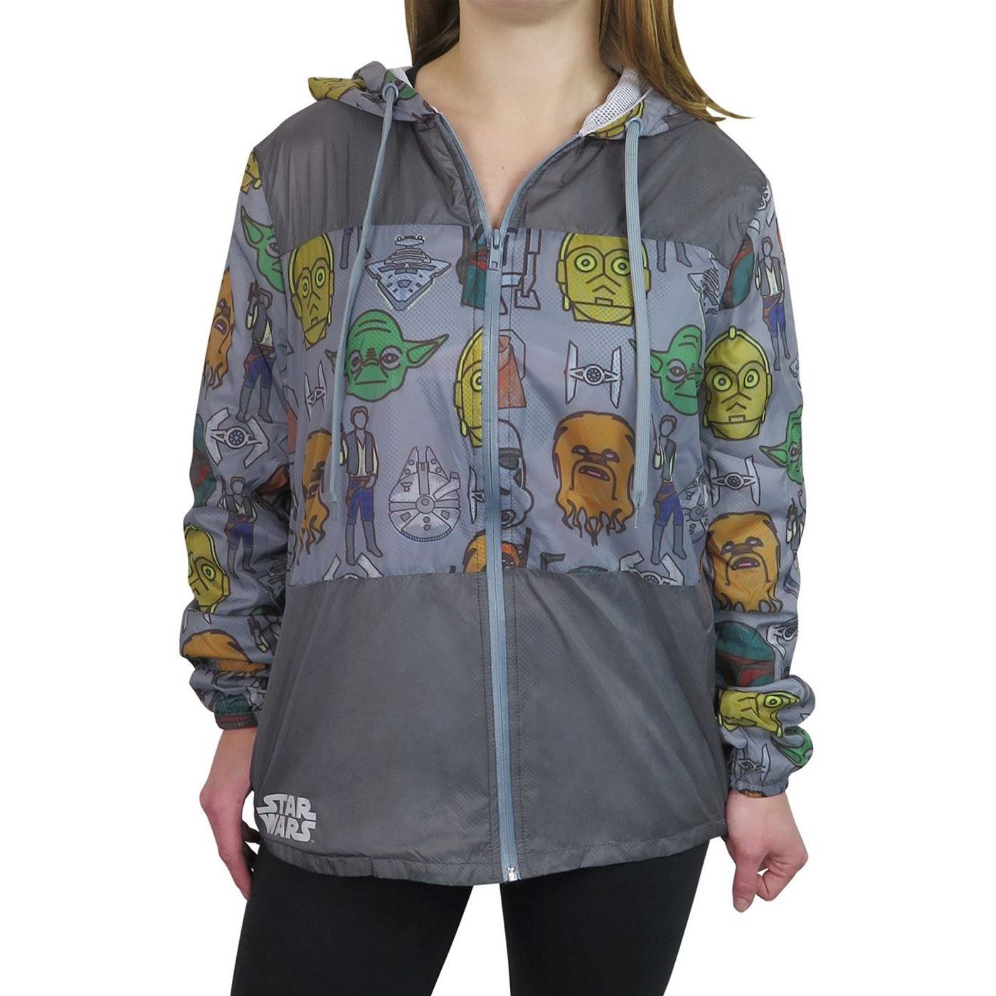 Star Wars Character Heads Sublimated Women's Windbreaker