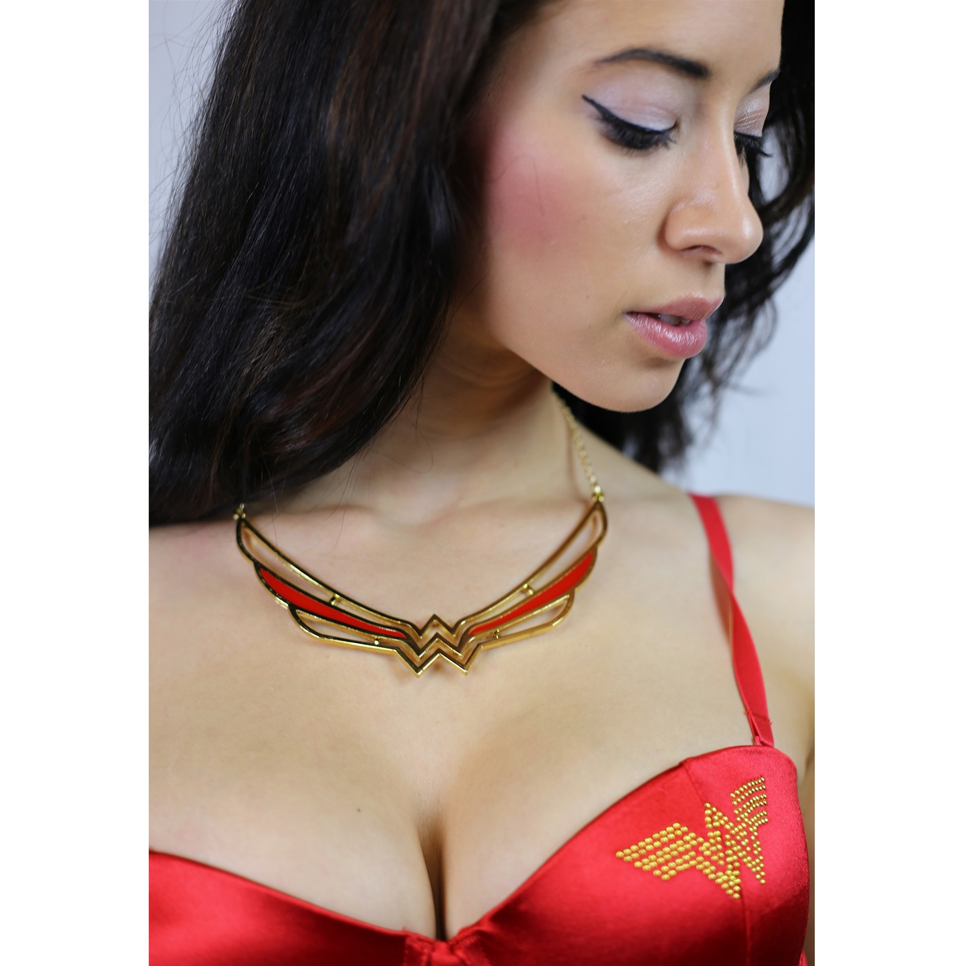 Wonder Woman Symbol Collar Necklace