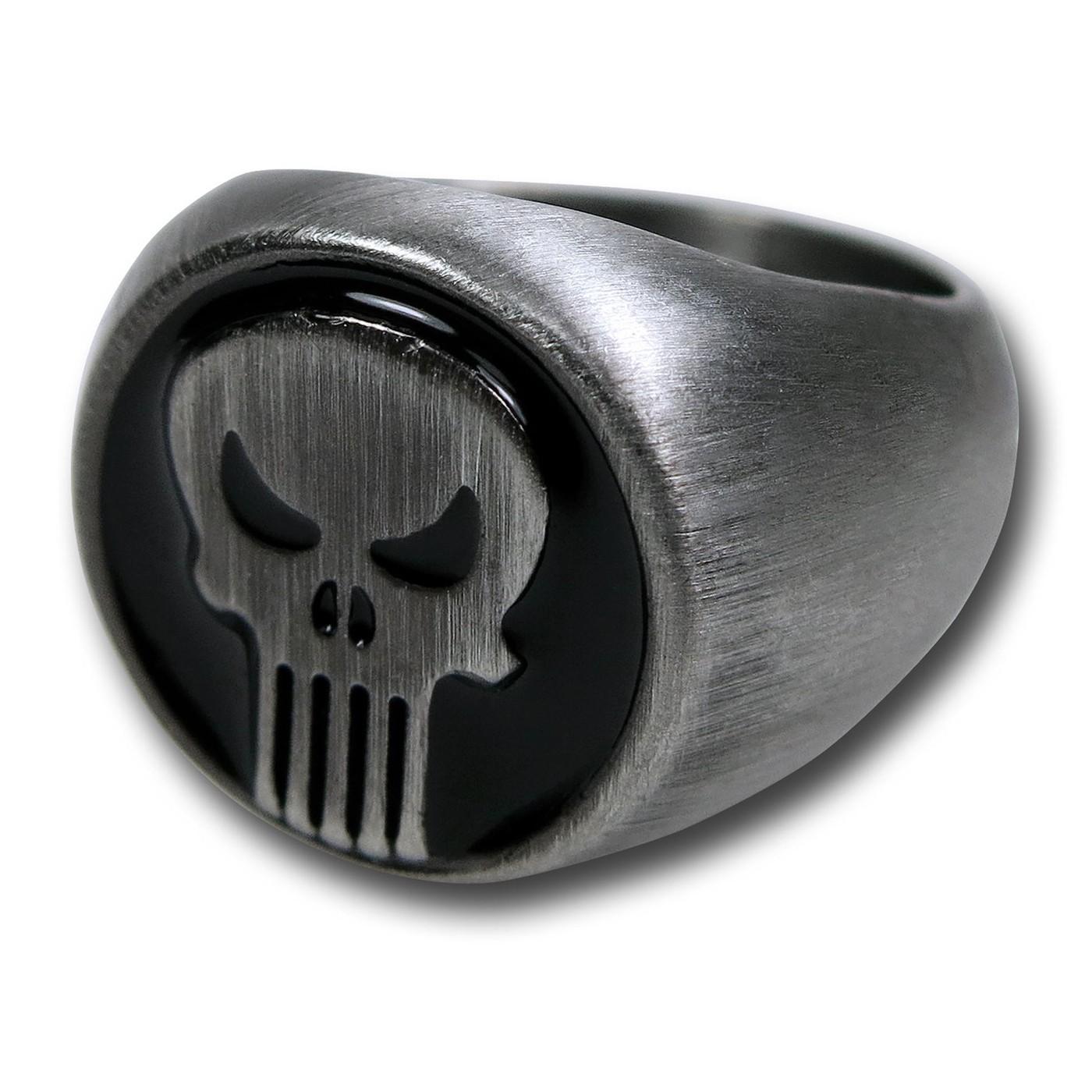 Punisher Brushed Nickel Ring