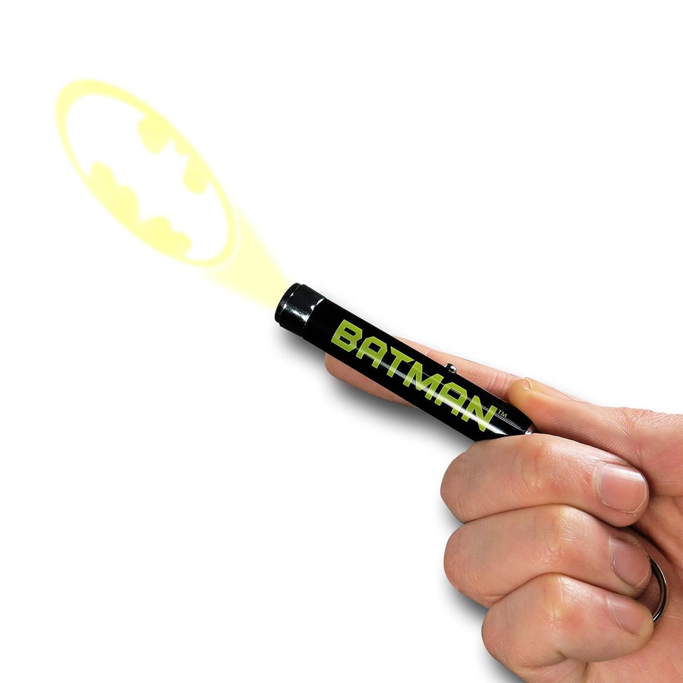 Batman Logo Keychain Flashlight