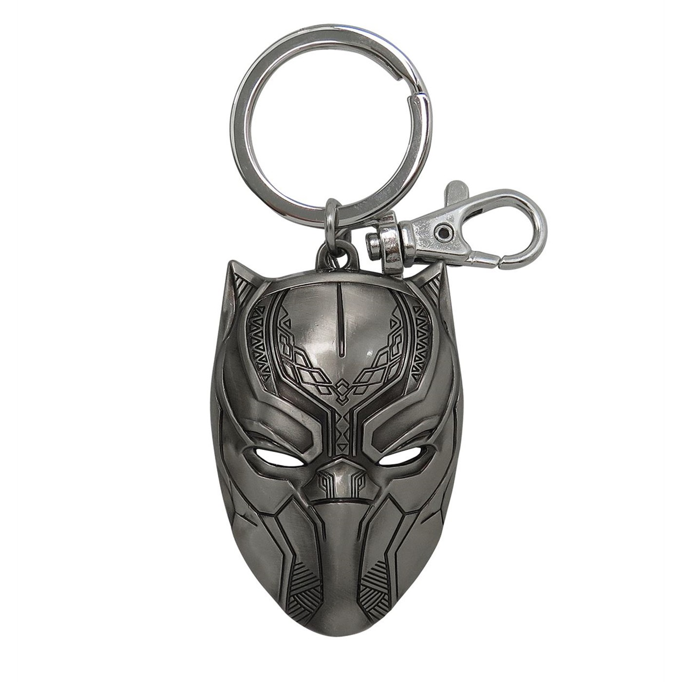 Black Panther Mask Metal Keychain