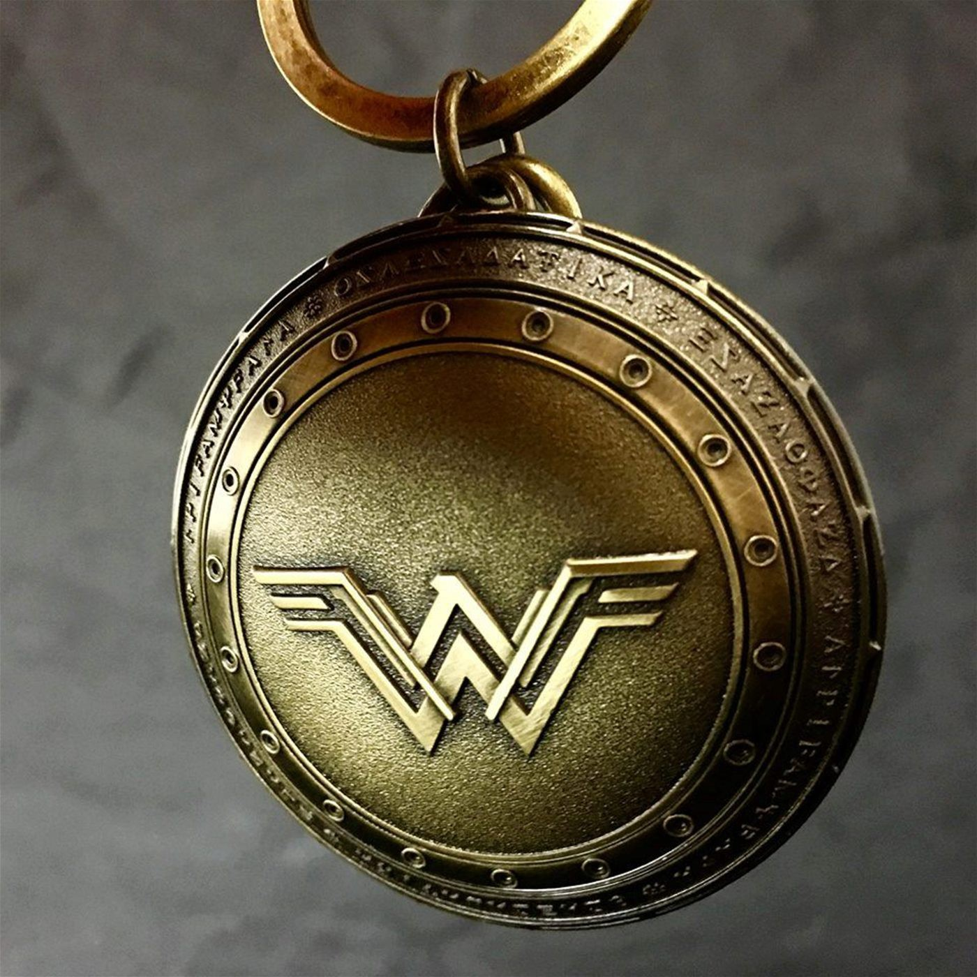 Wonder Woman Movie Shield Pewter Keychain