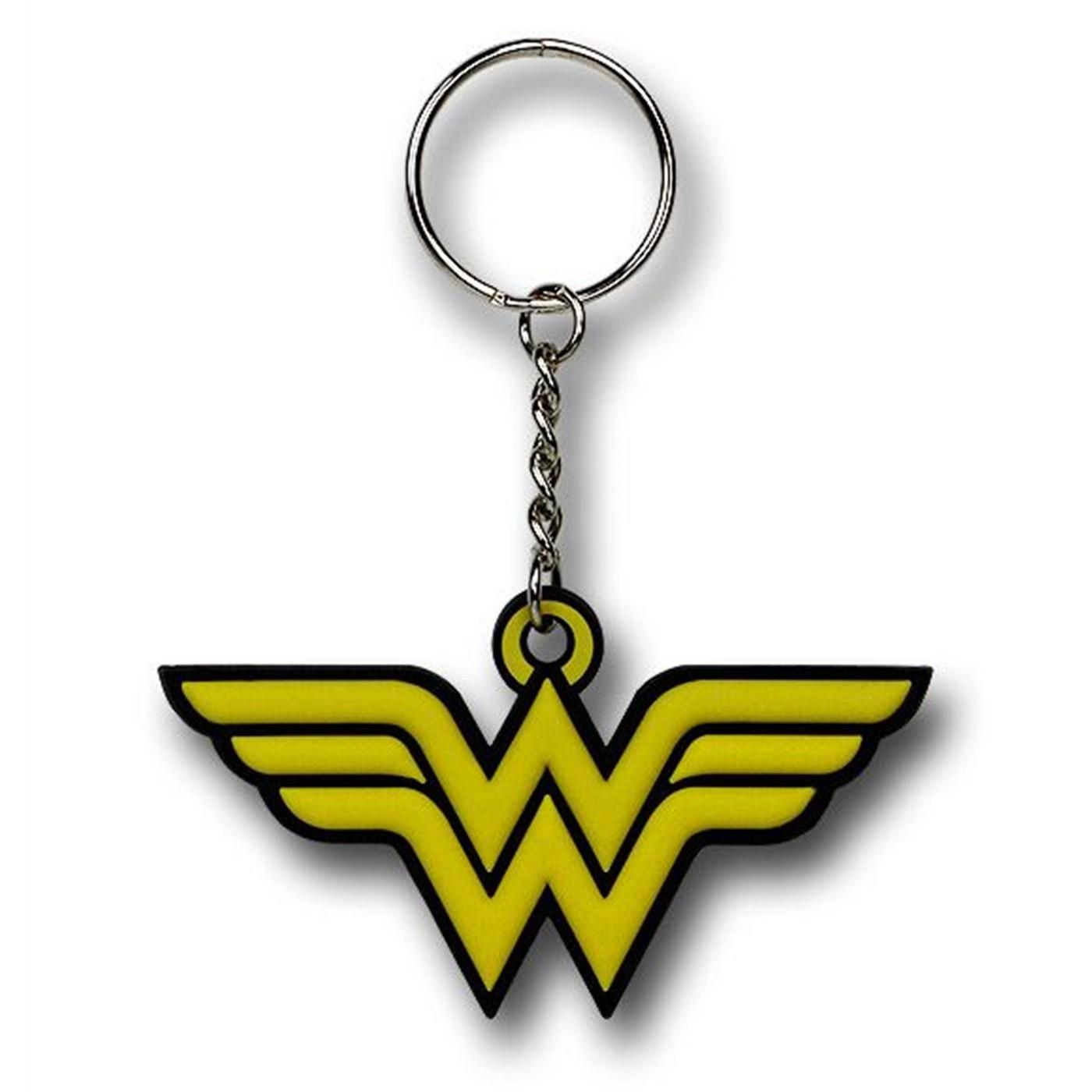 Wonder Woman Symbol Rubber Keychain