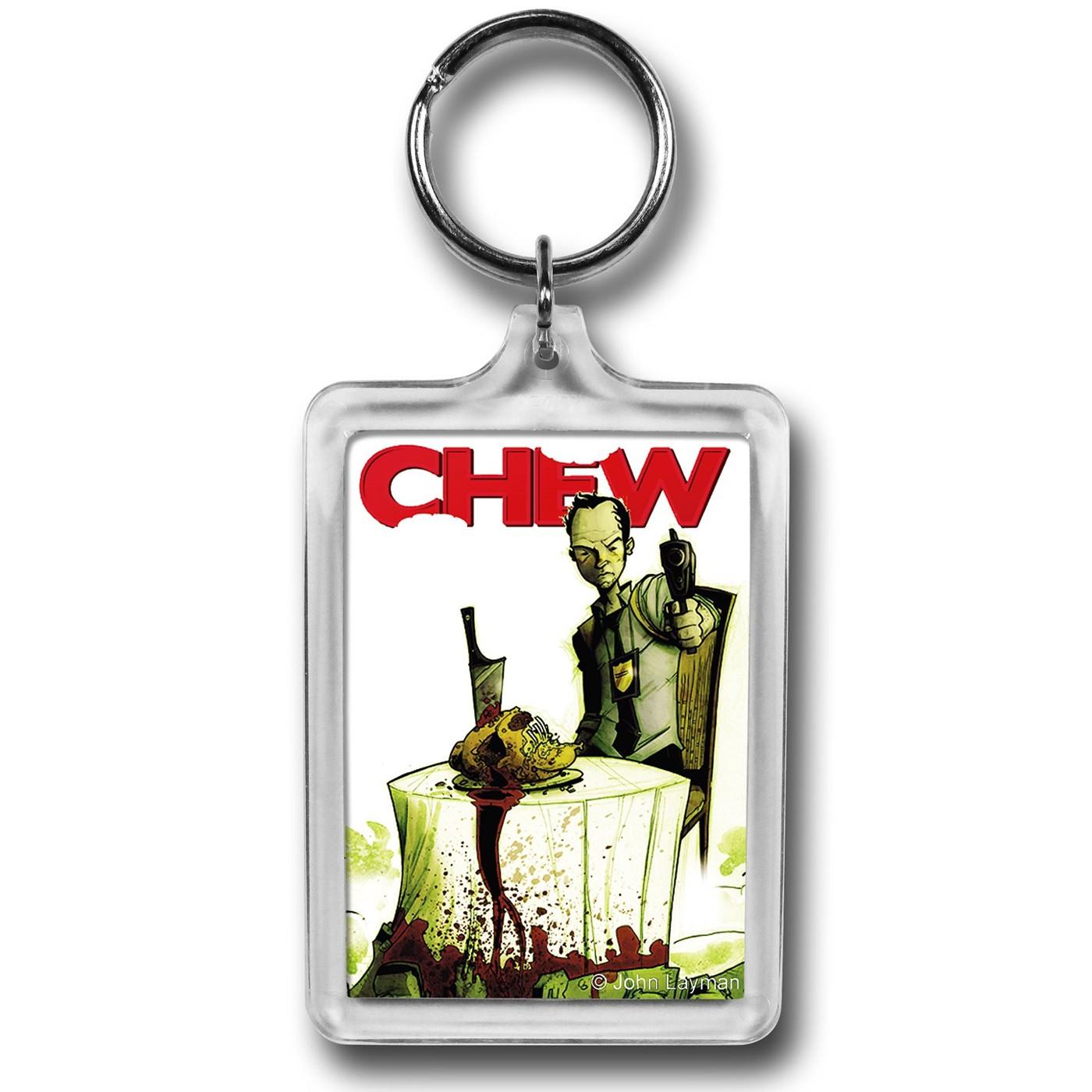 Chew Tony Freeze Lucite Keychain