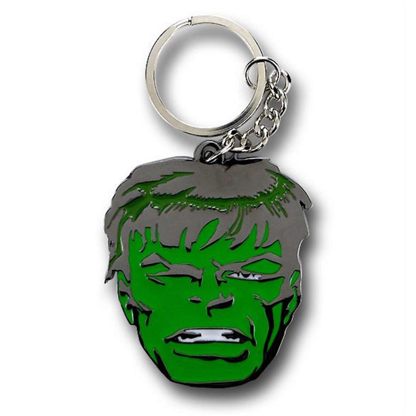 Hulk Big Face Metal Key Chain