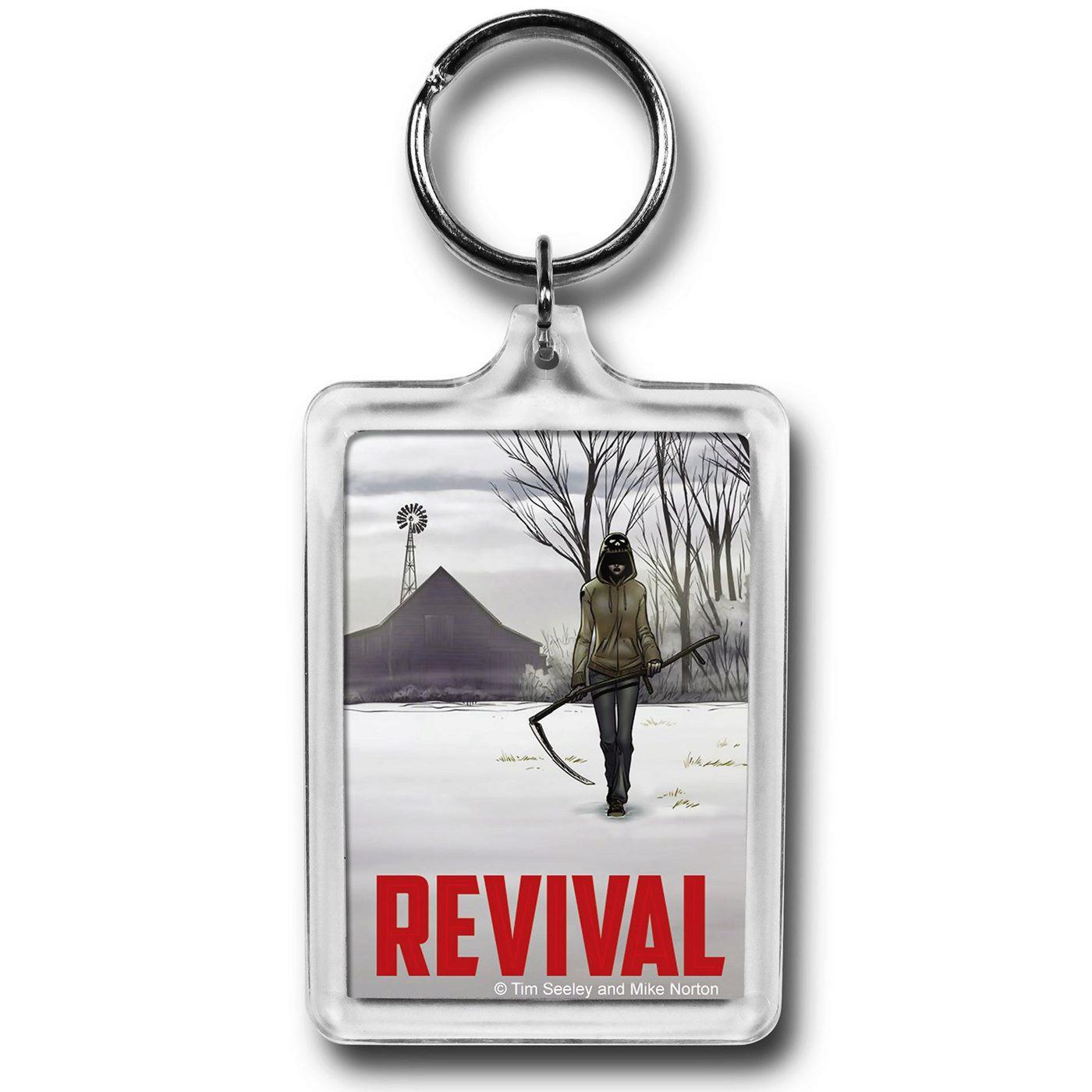 Revival Em Scythe Lucite Keychain