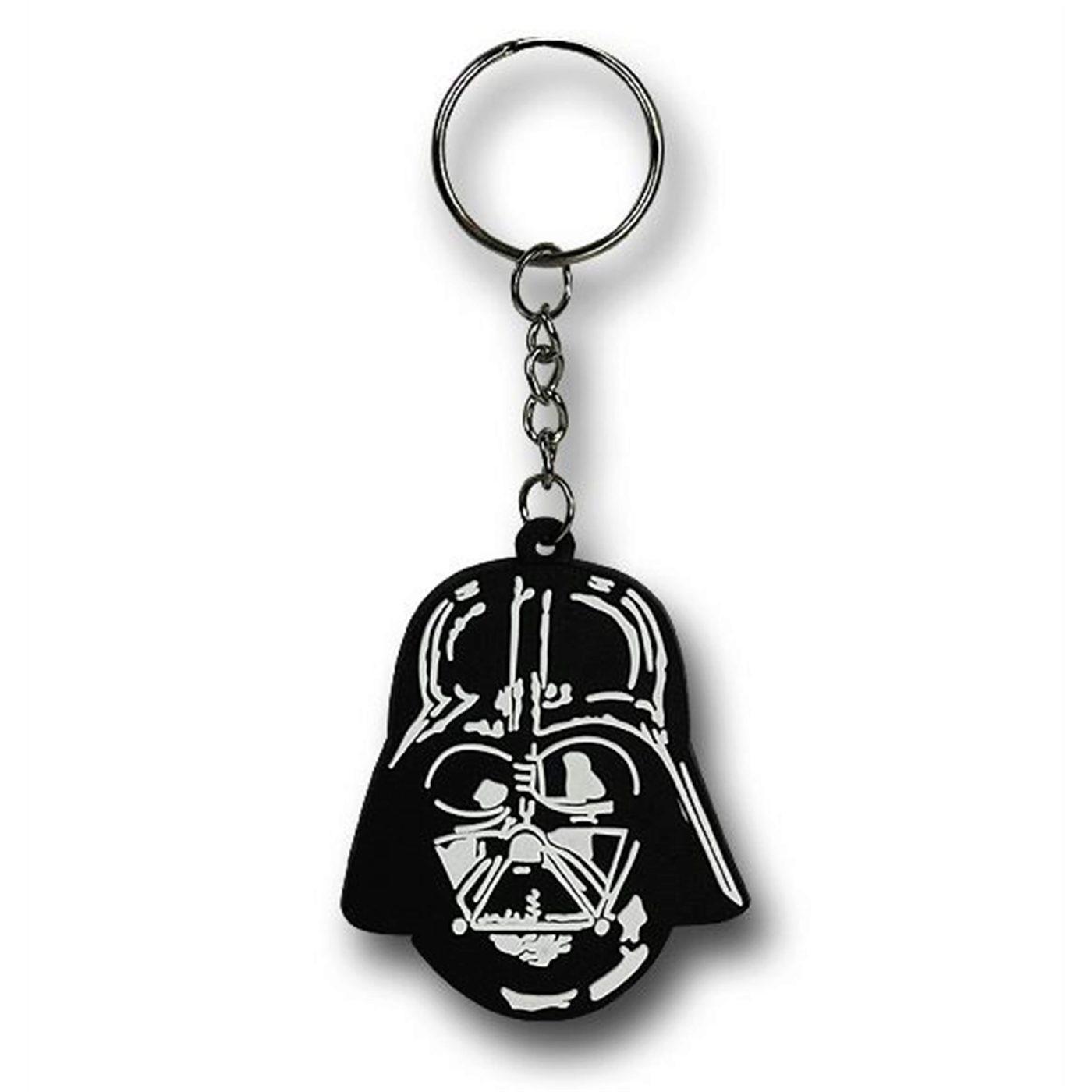 Star Wars Classic Darth Vader Helmet PVC Keychain