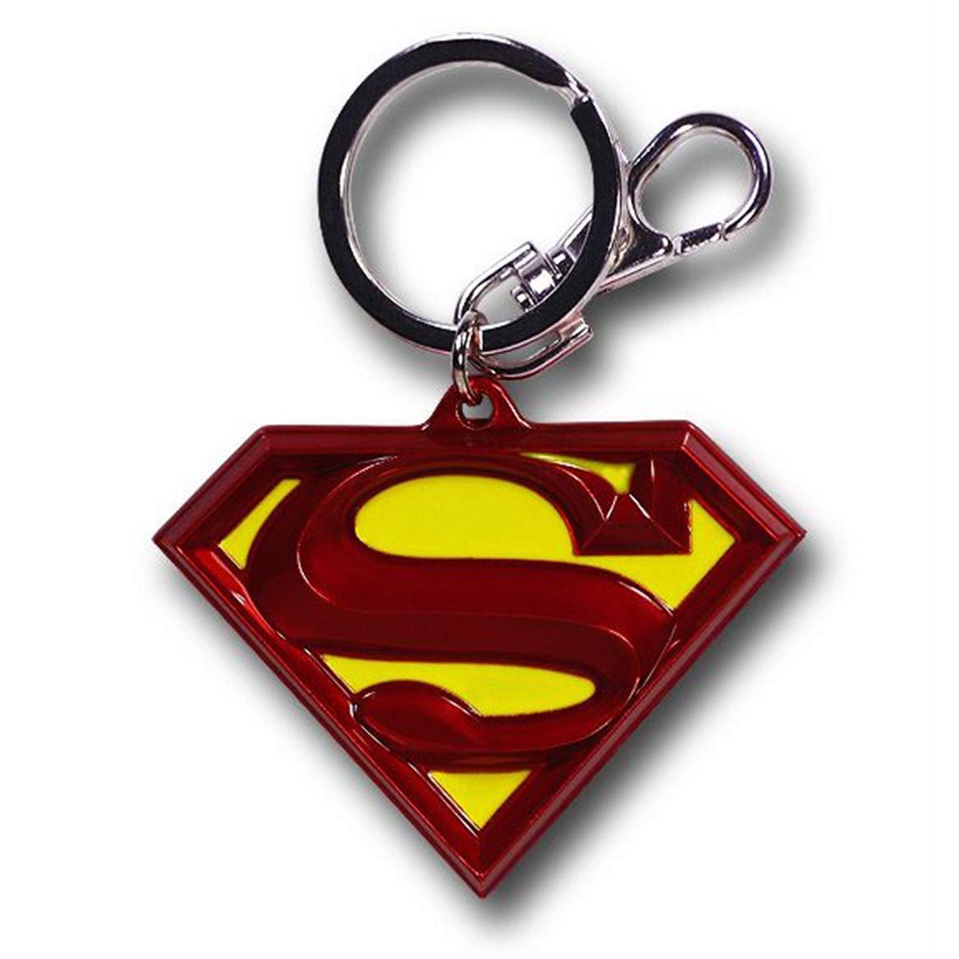 Superman Symbol Color Pewter Keyring