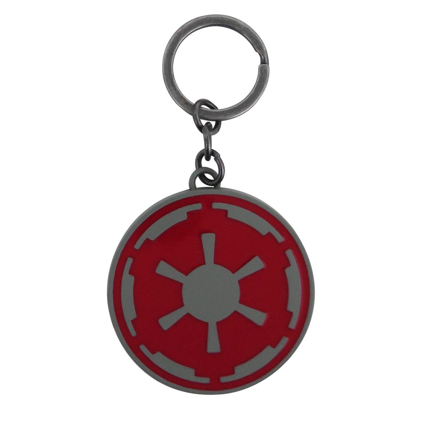 Star Wars Red Imperial Crest Metal Keychain