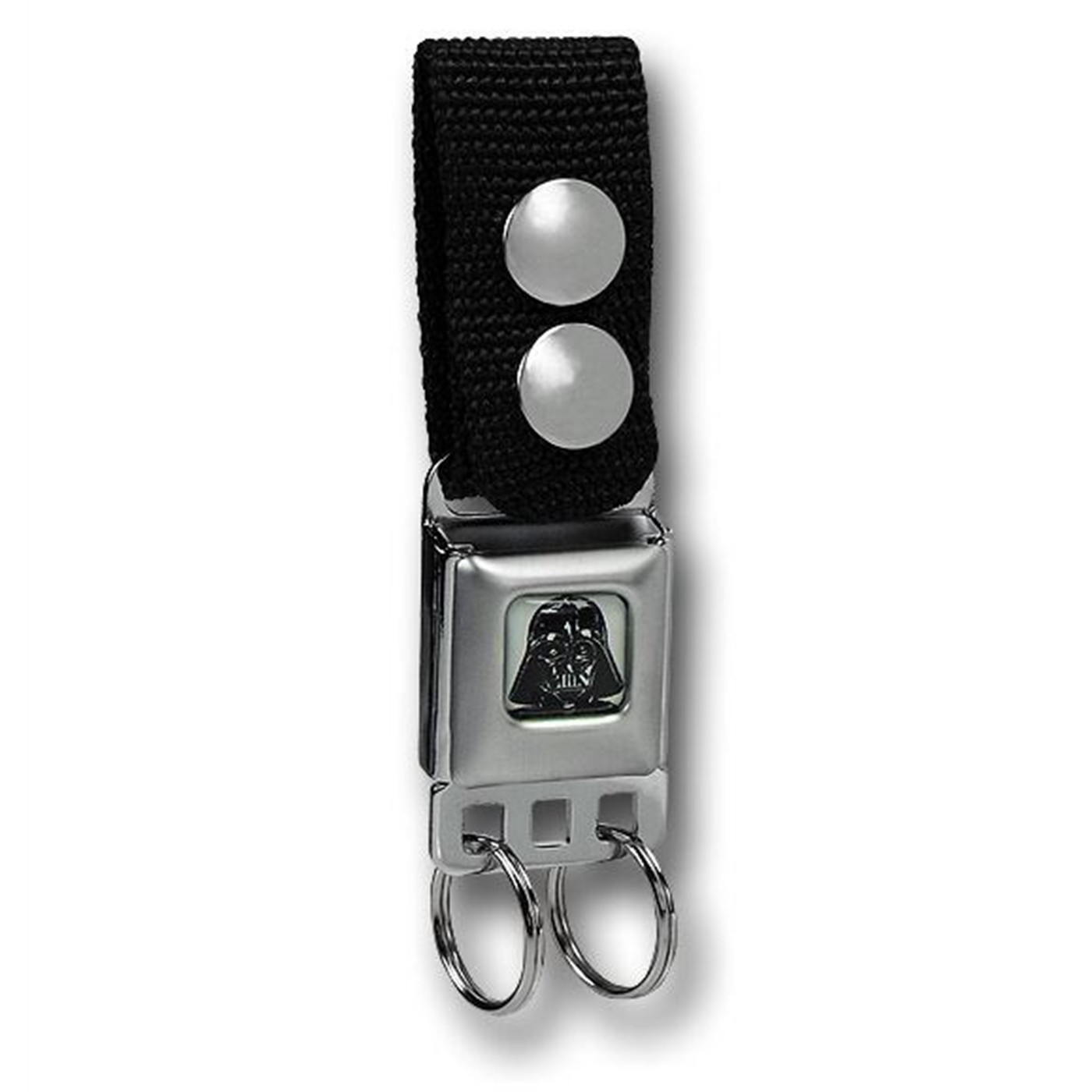 Darth Vader Seatbelt Keychain w/Snap-On Belt Loop