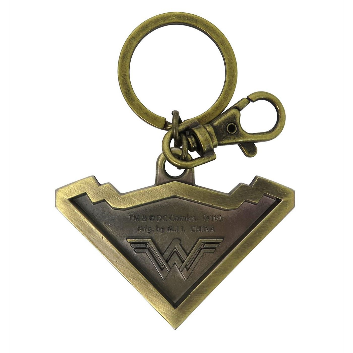 Wonder Woman Movie Tiara Symbol Pewter Keychain