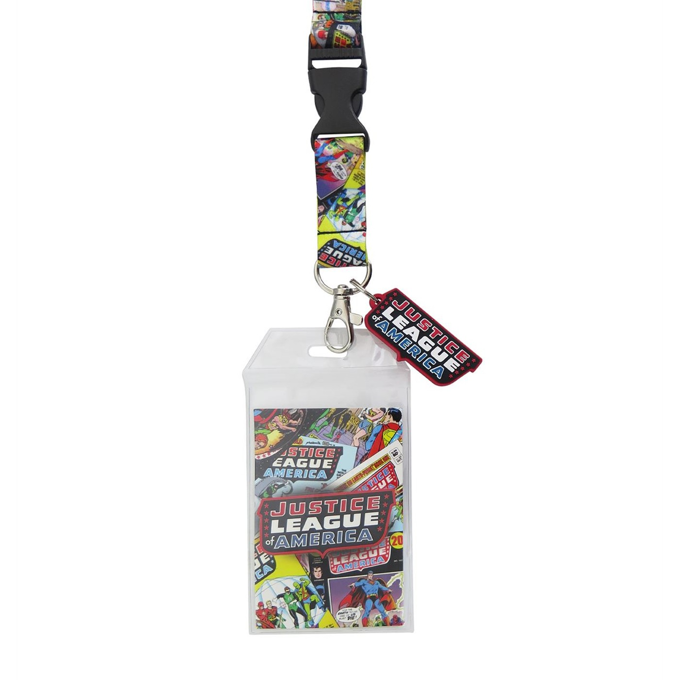 Justice League of America Lanyard with Charm