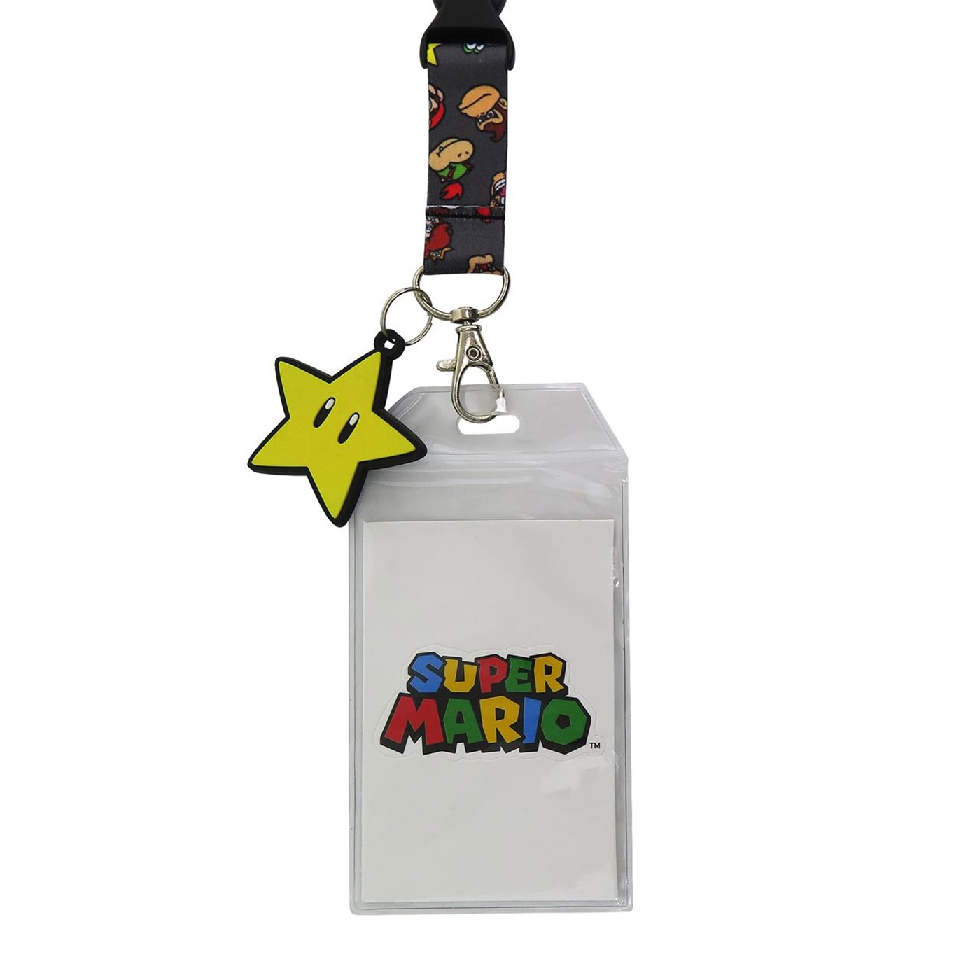 Super Mario Power Star Lanyard with PVC Charm