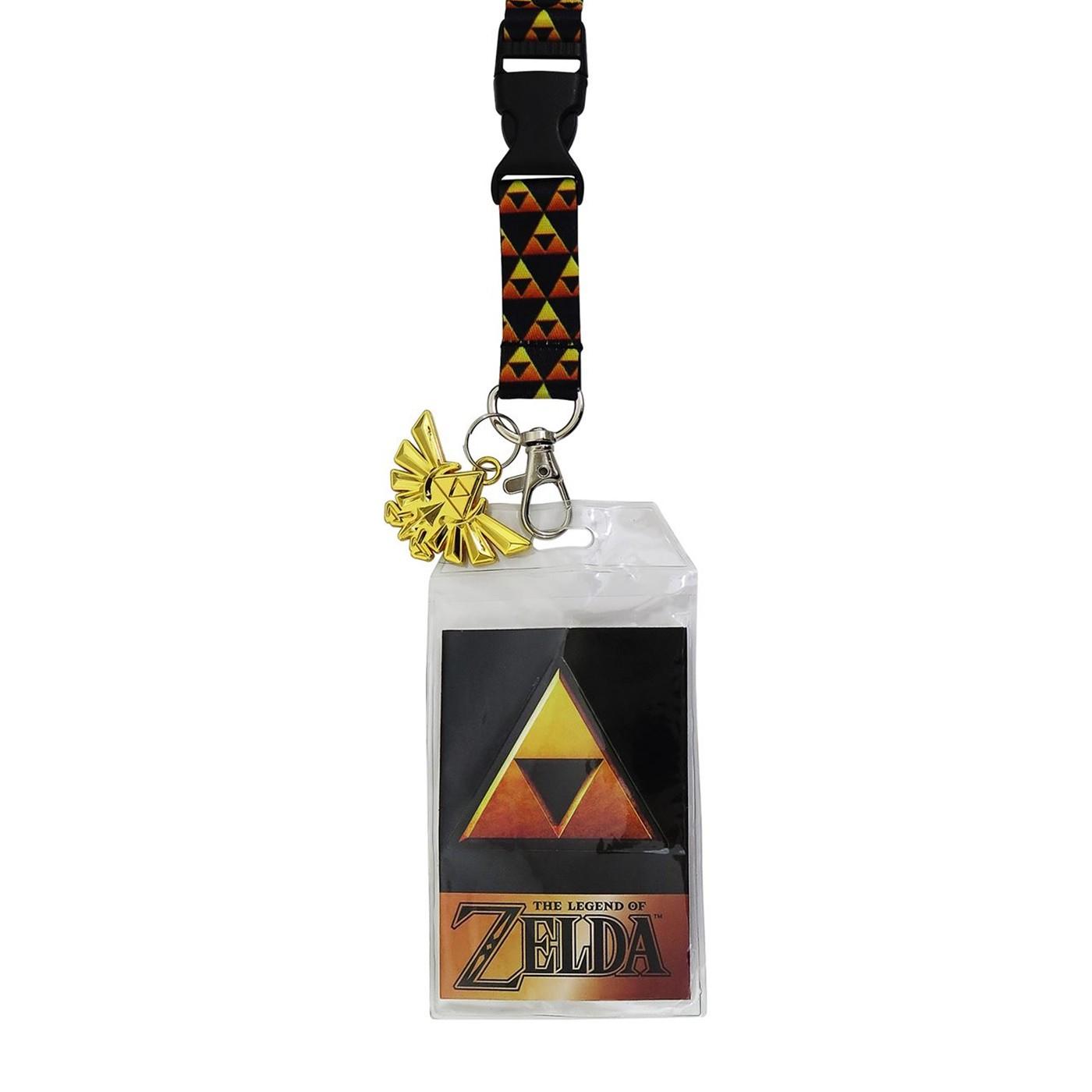 Legend of Zelda Triforce Lanyard with Metal Charm