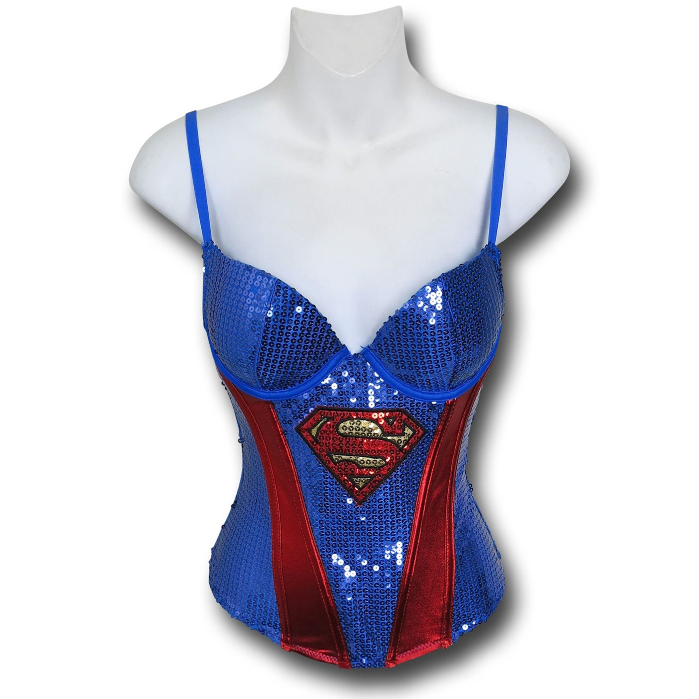 Supergirl Women's Sequin Corset
