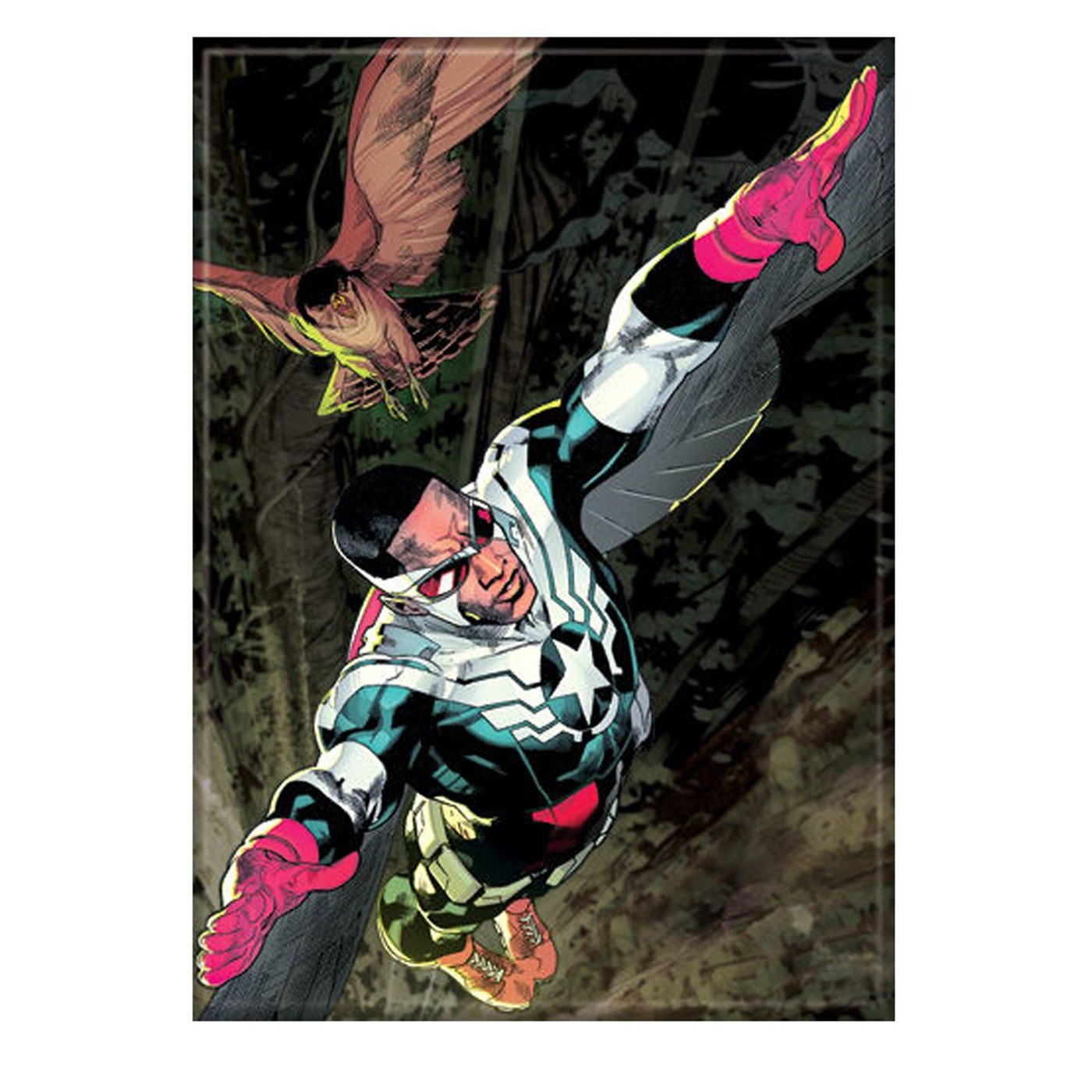 Captain America Sam Wilson & Redwing Magnet