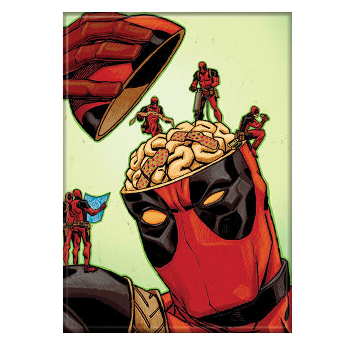 Deadpool Patching the Brain Magnet