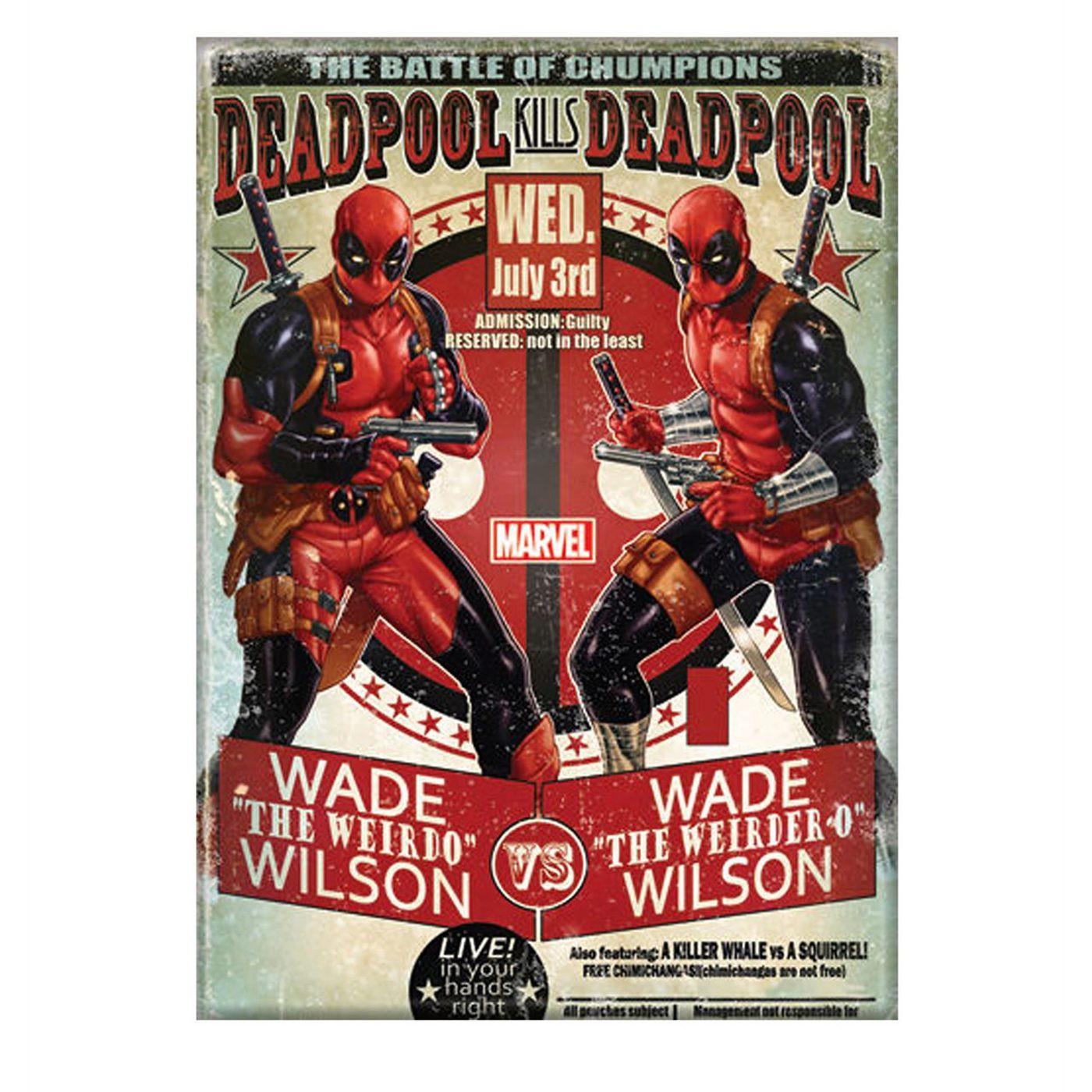 Deadpool Vs Deadpool Magnet