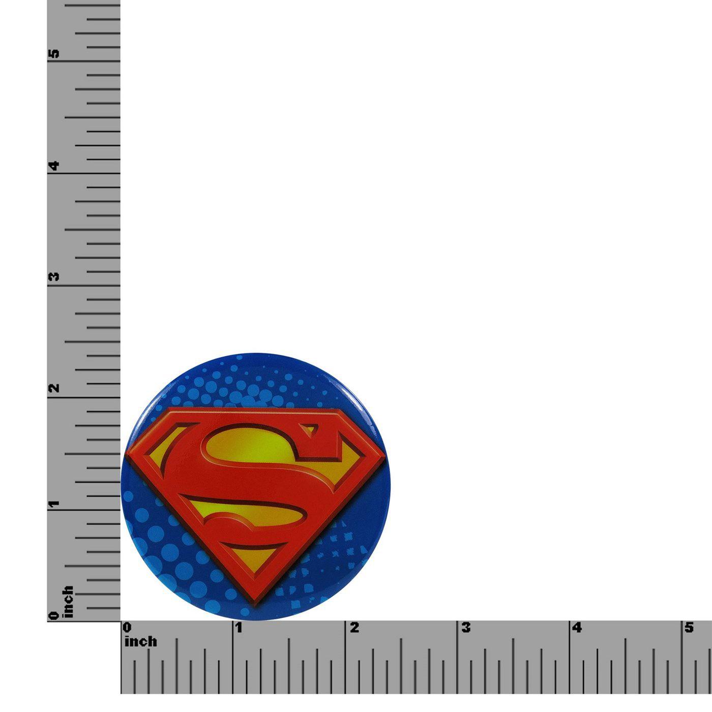 Superman Symbol Button Magnet Bottle Opener