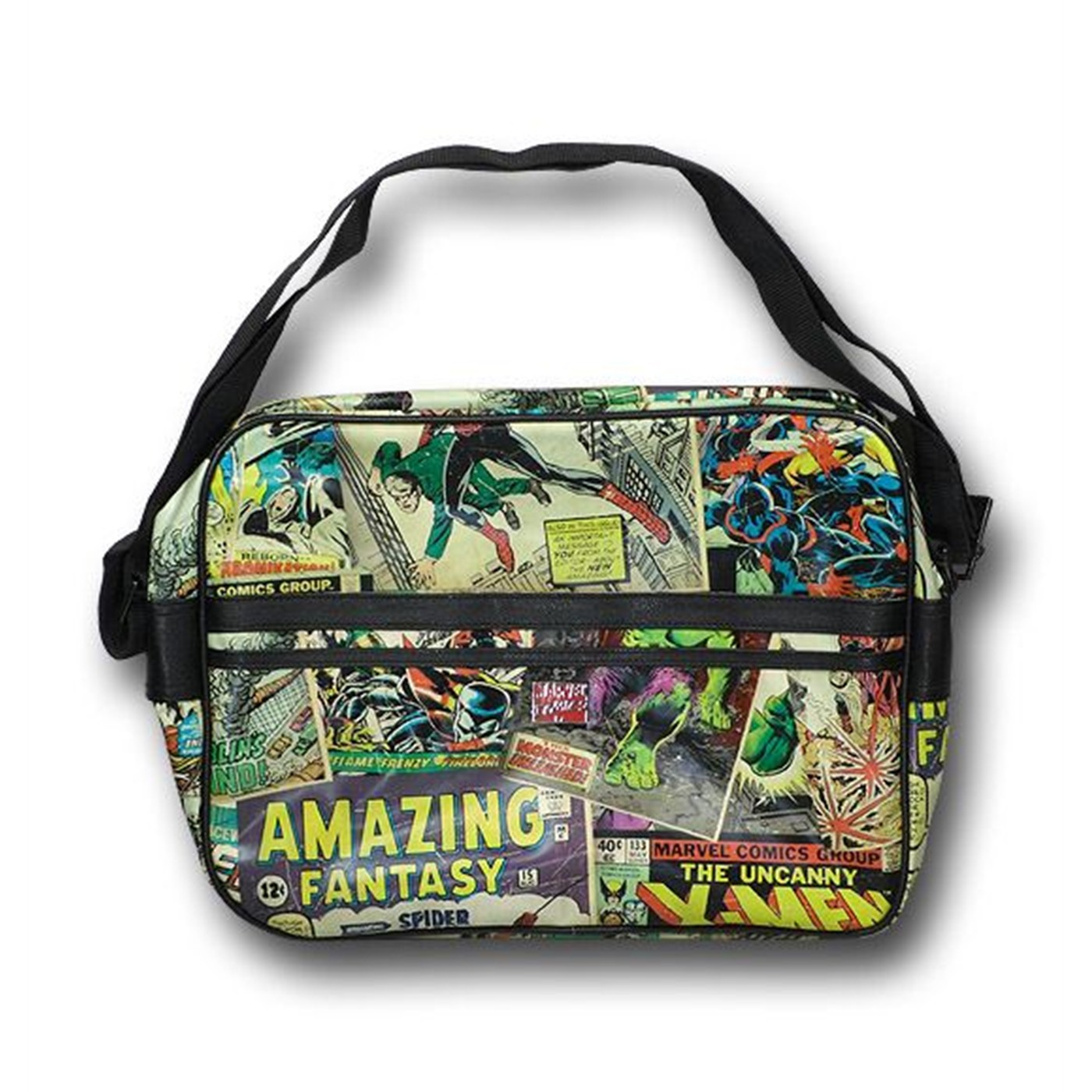 Marvel Classic Cover Mosaic Shoulder Book Bag