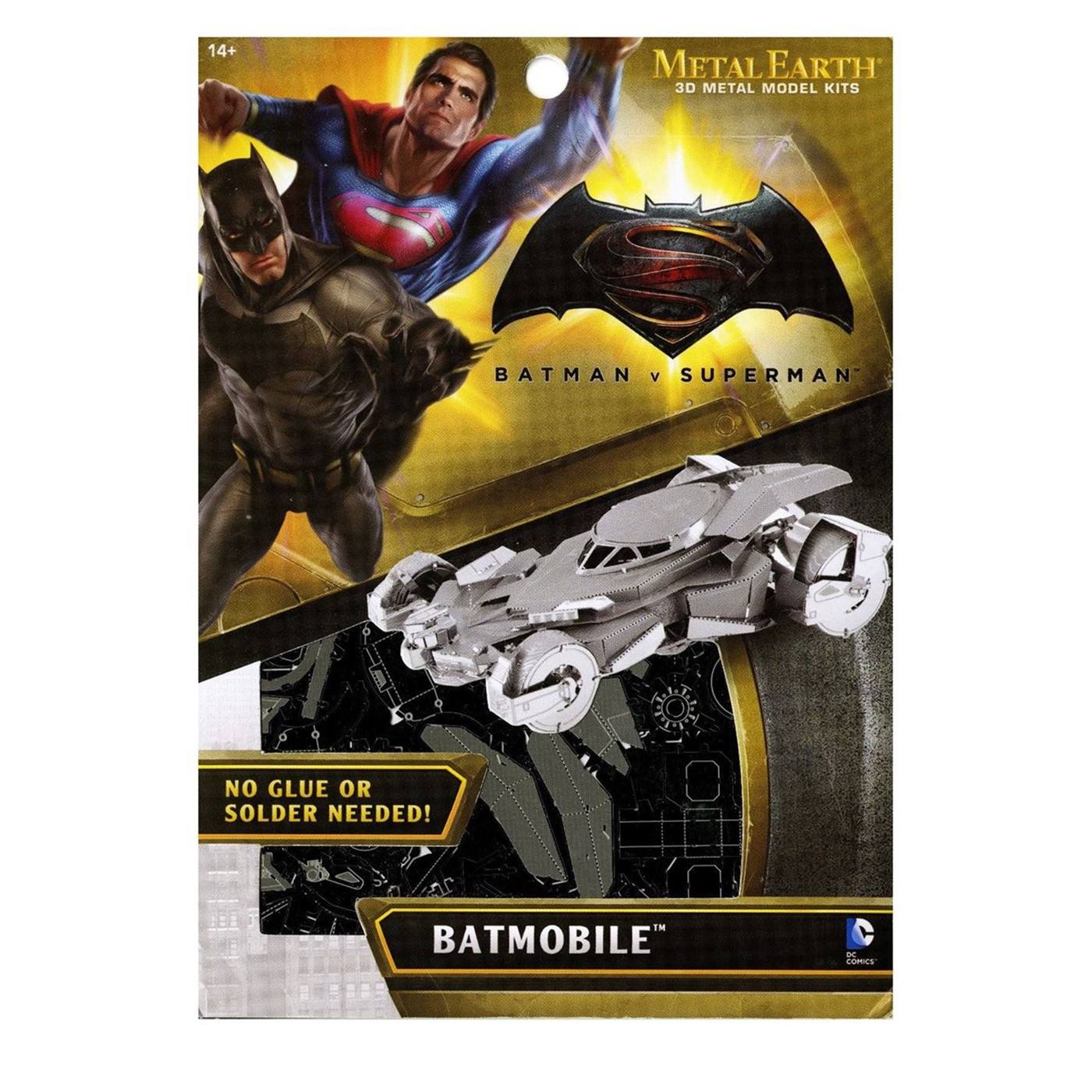 Batman Vs Superman Batmobile Metal Earth Model Kit