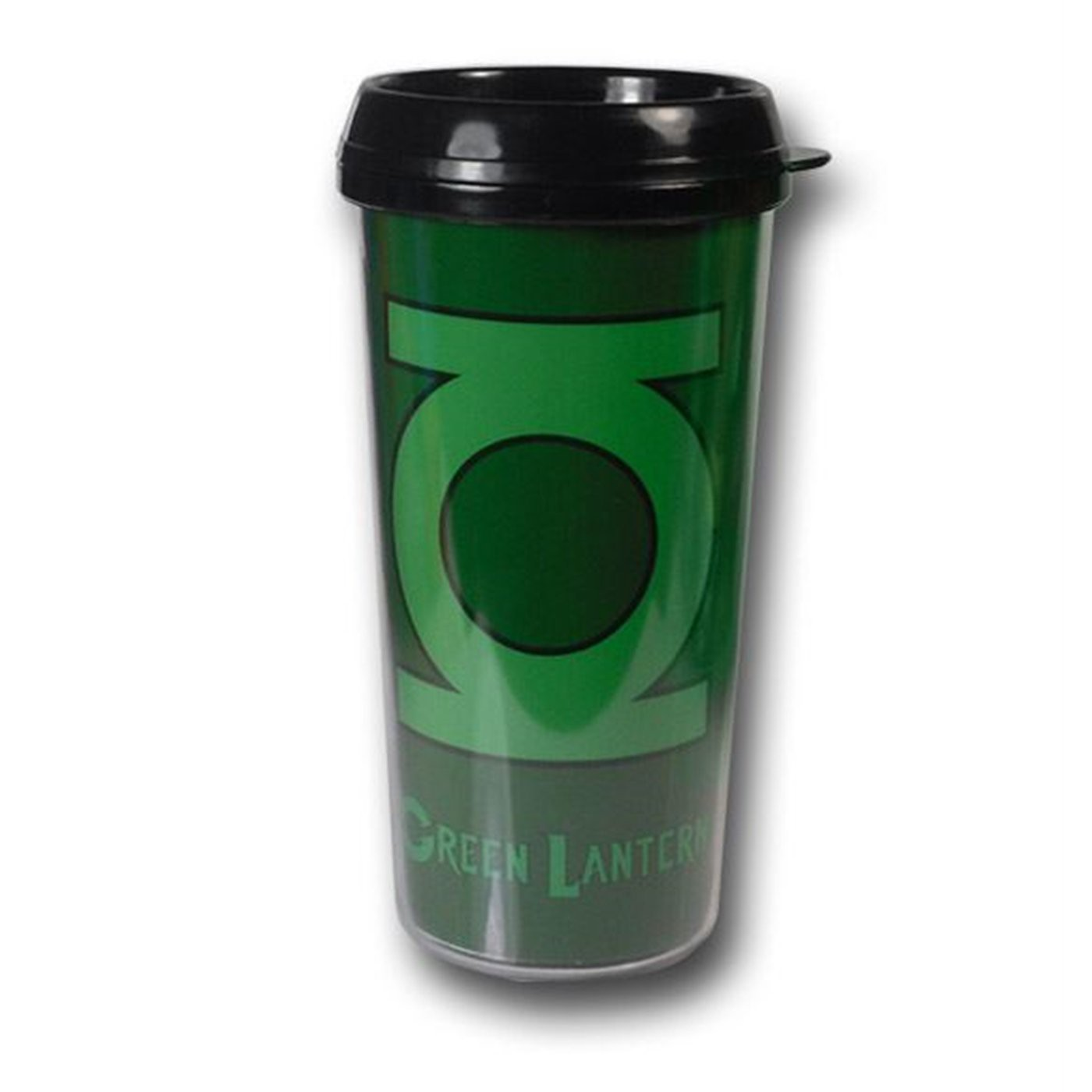 Green Lantern Green Symbol Plastic Travel Mug