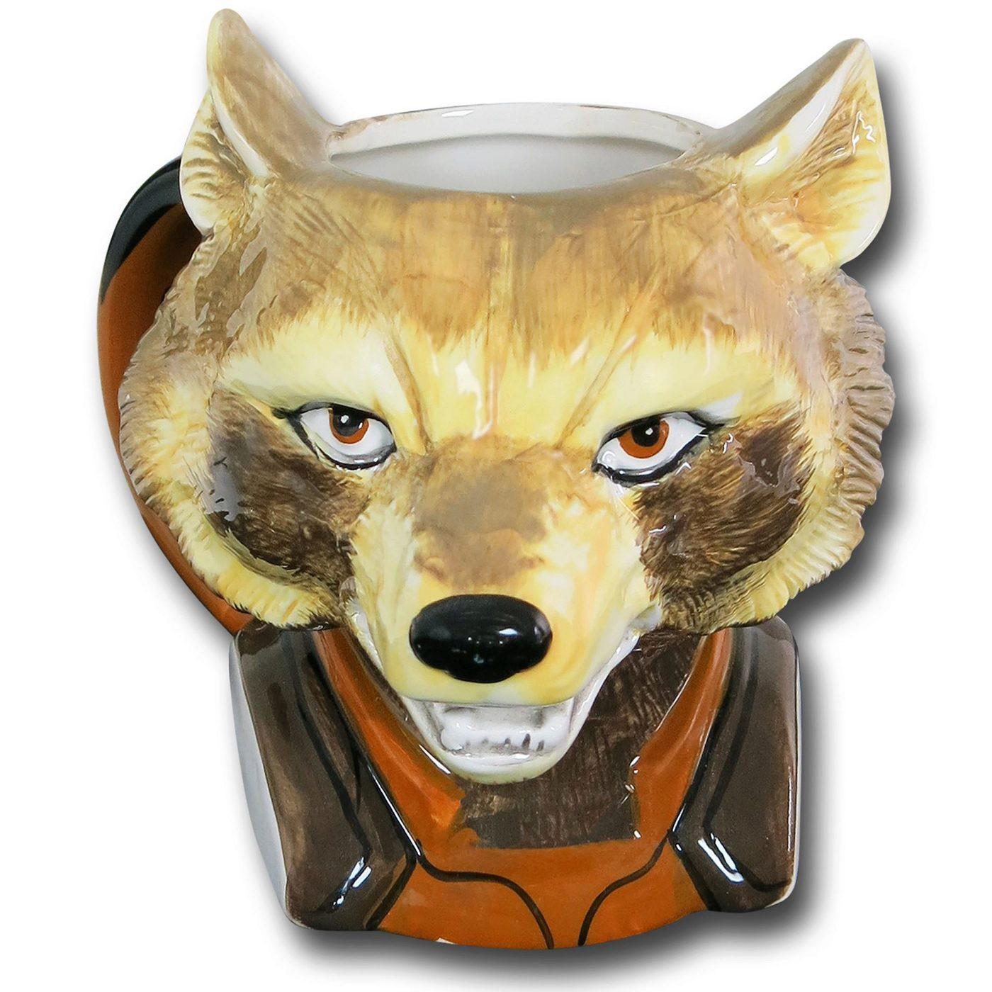 Rocket Raccoon Ceramic Character Mug