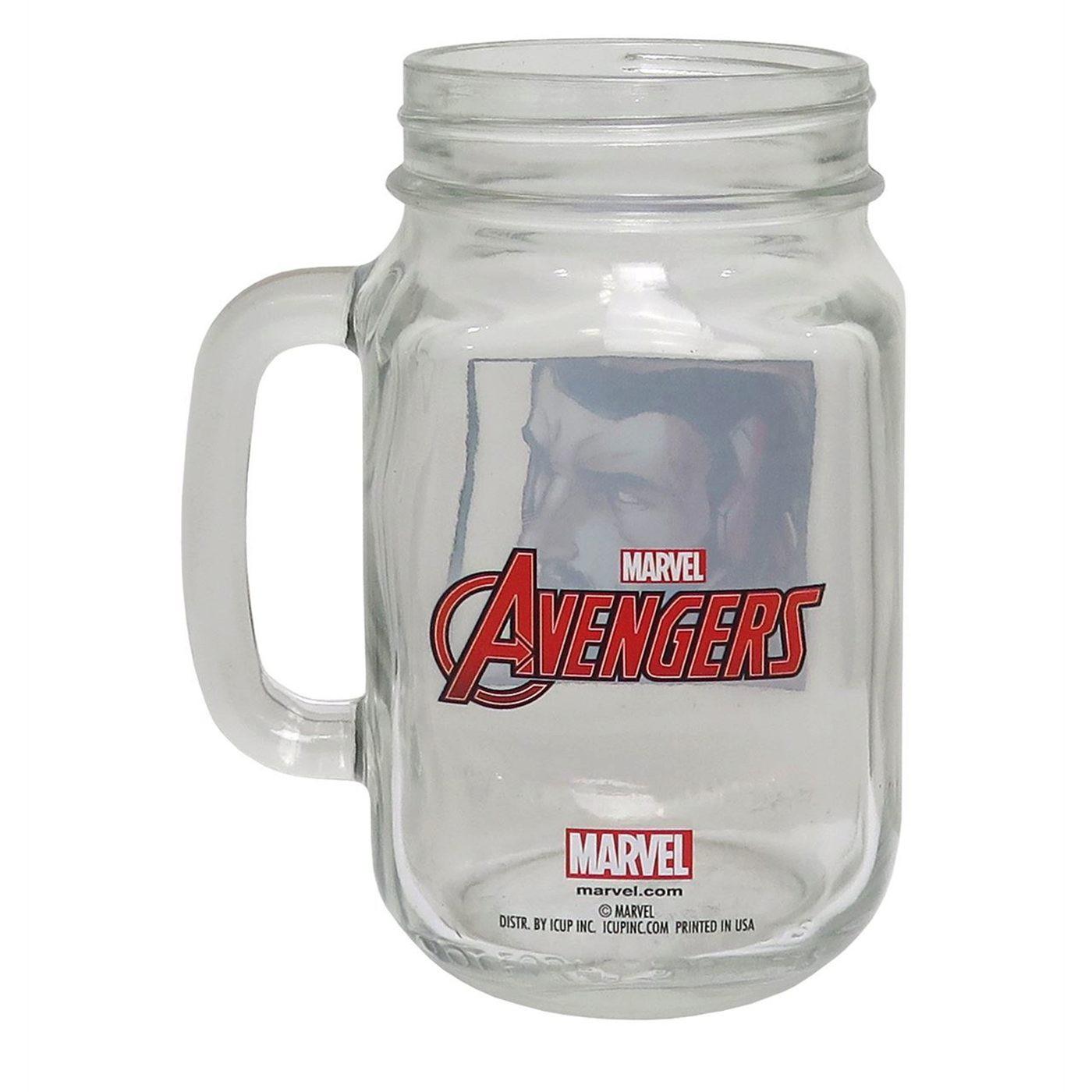 Iron Man Close-Up Mason Jar Mug